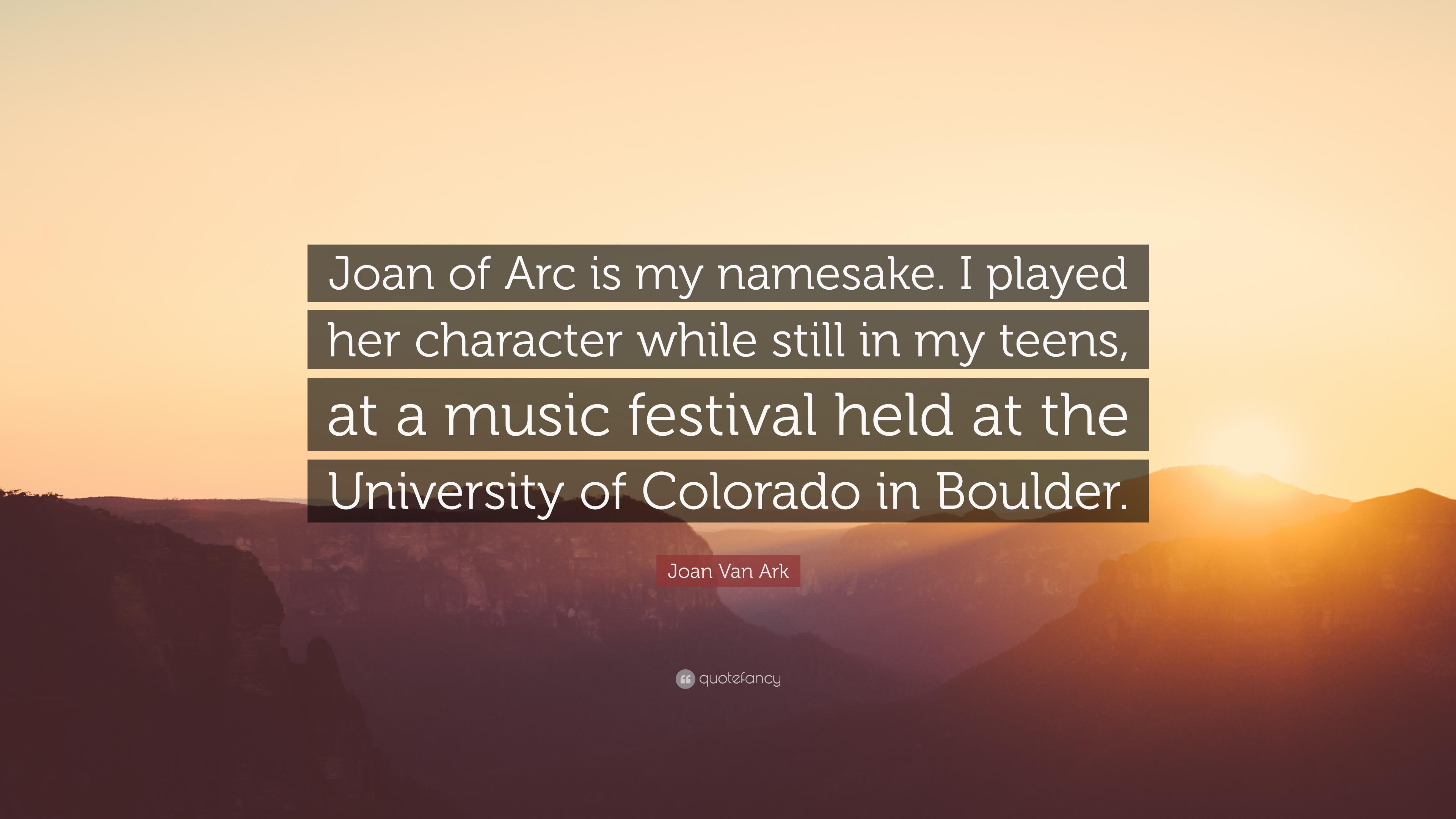 Joan Van Ark Quote Of Arc Is My Namesake I Played Her