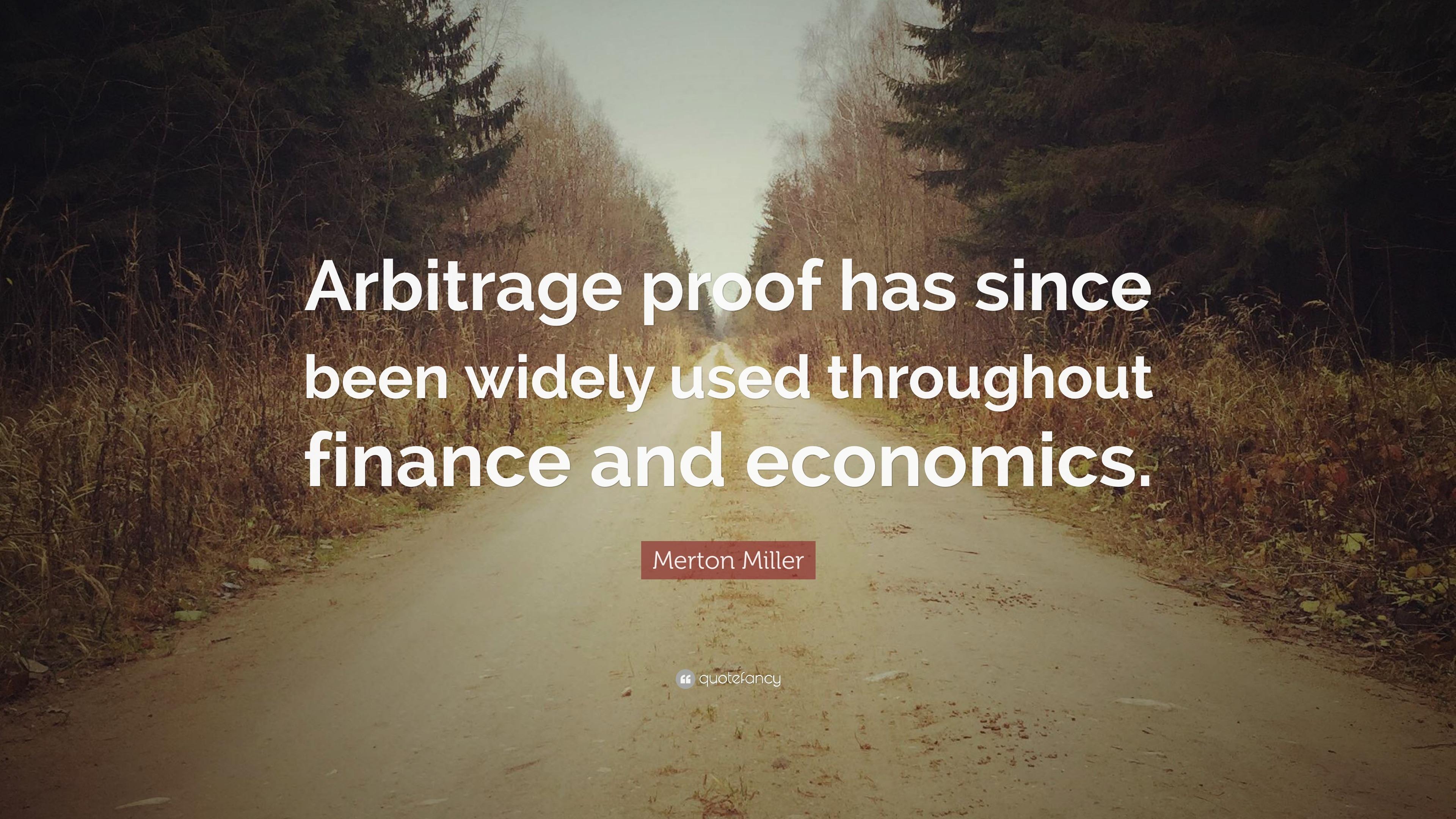Finance Quotes Merton Miller Quotes 15 Wallpapers  Quotefancy