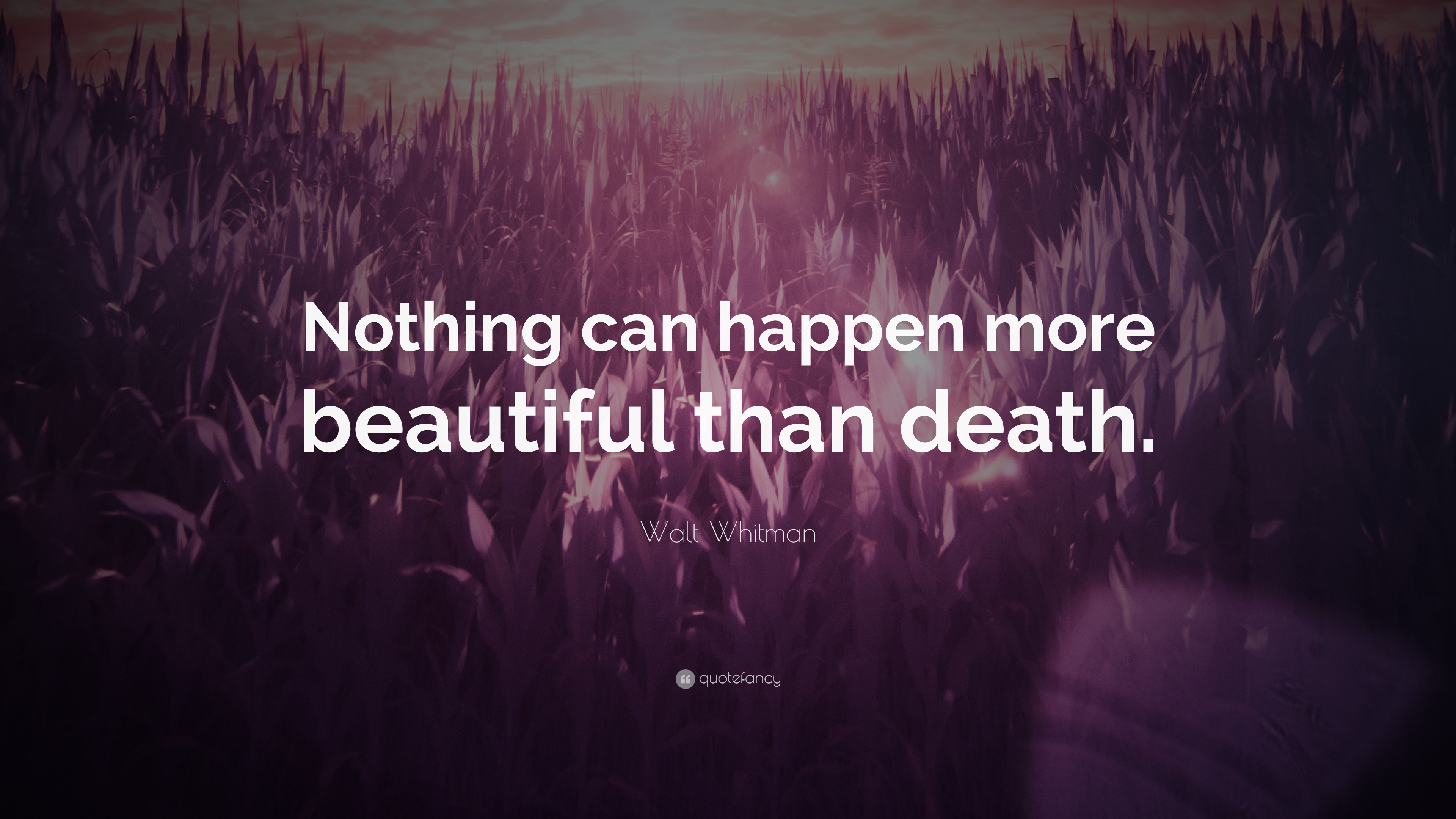 nothing can happen more beautiful than death essay Romeo and juliet essay the theme of love and fate in: popular topics  how rosaline can be so soon forsaken what happens if romeo meets a girl more beautiful and attractive than juliet.