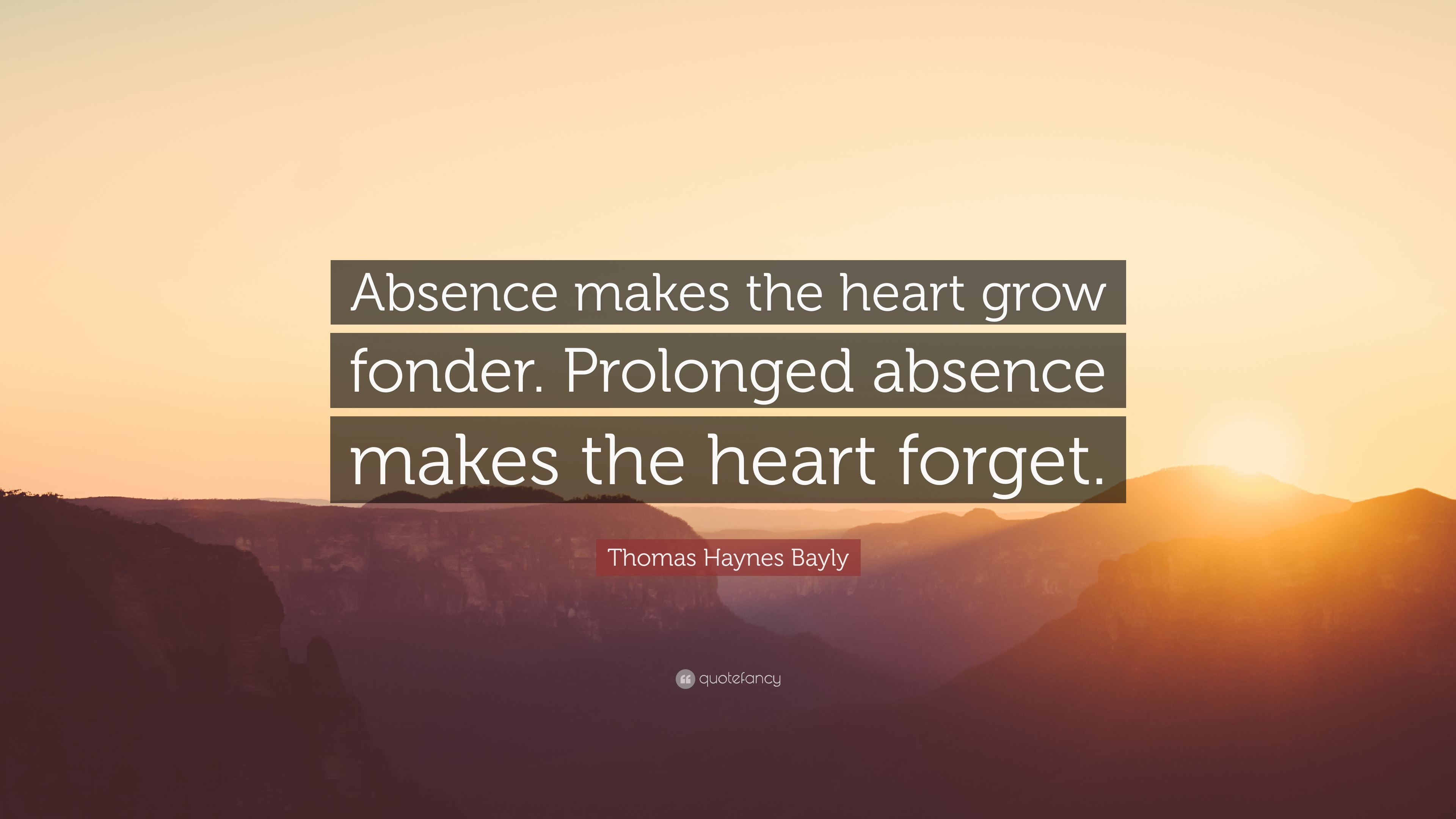 When absence doesnt make the heart grow fonder