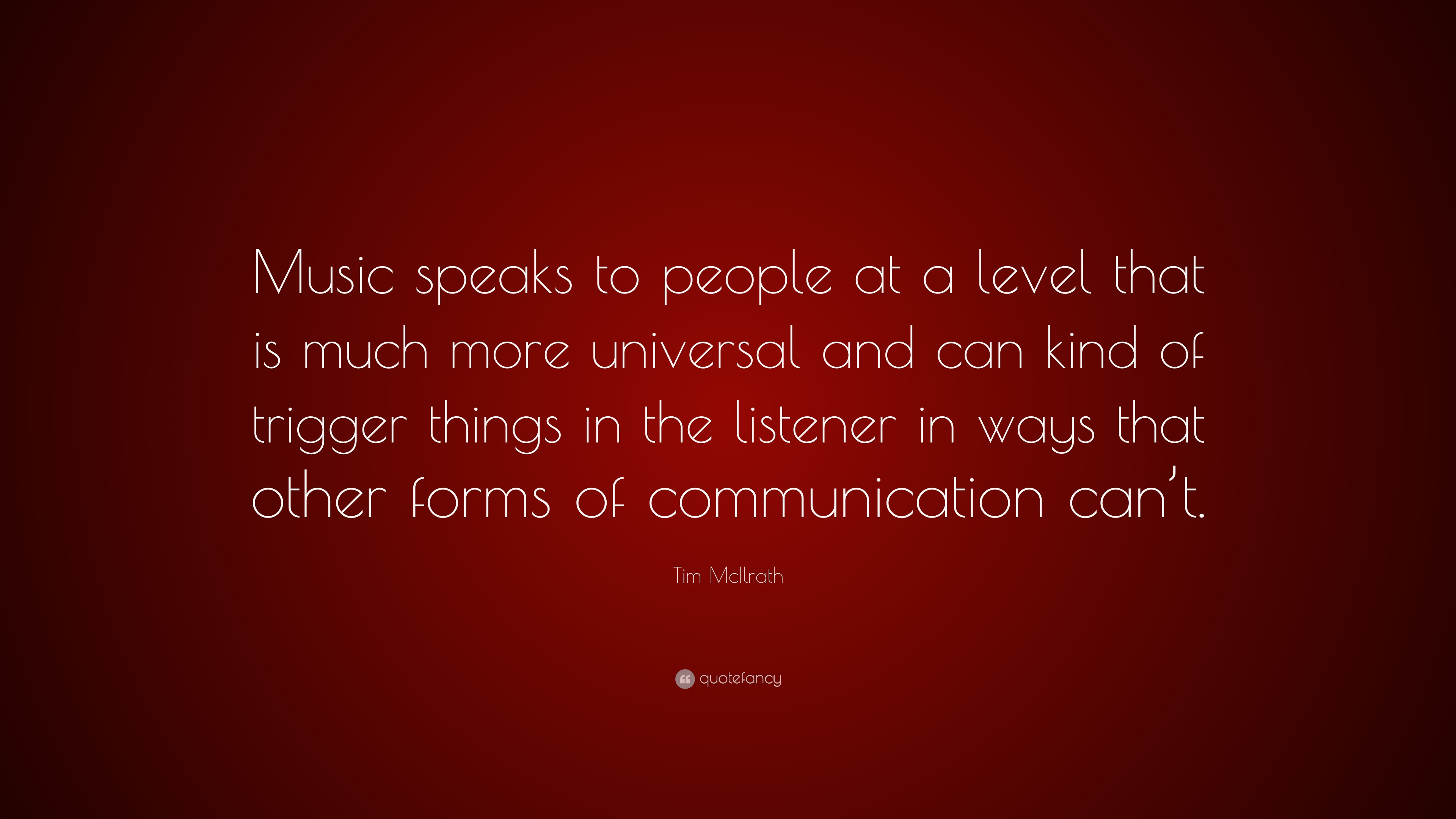 """Tim McIlrath Quote: """"Music speaks to people at a level that ..."""
