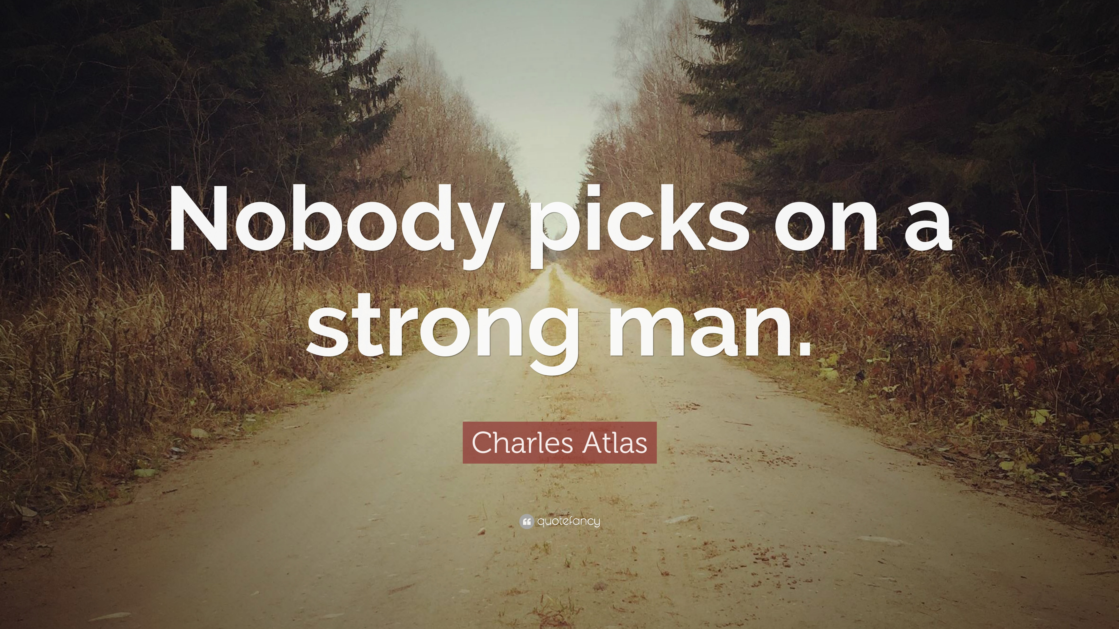 Charles Atlas Quote Nobody Picks On A Strong Man 7 Wallpapers