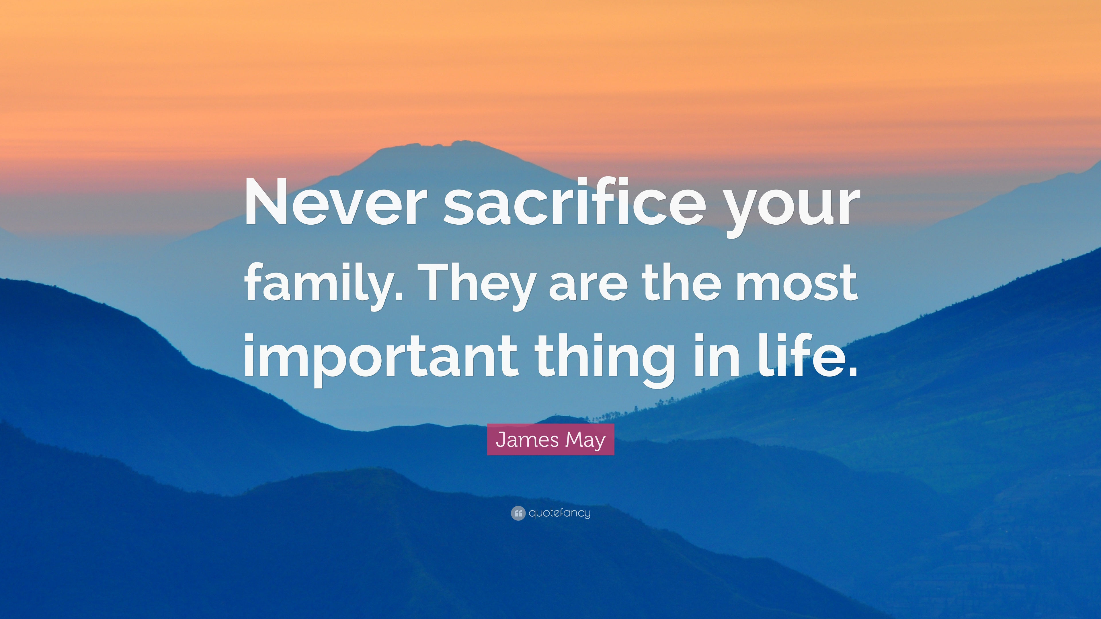 the most important thing in life is family