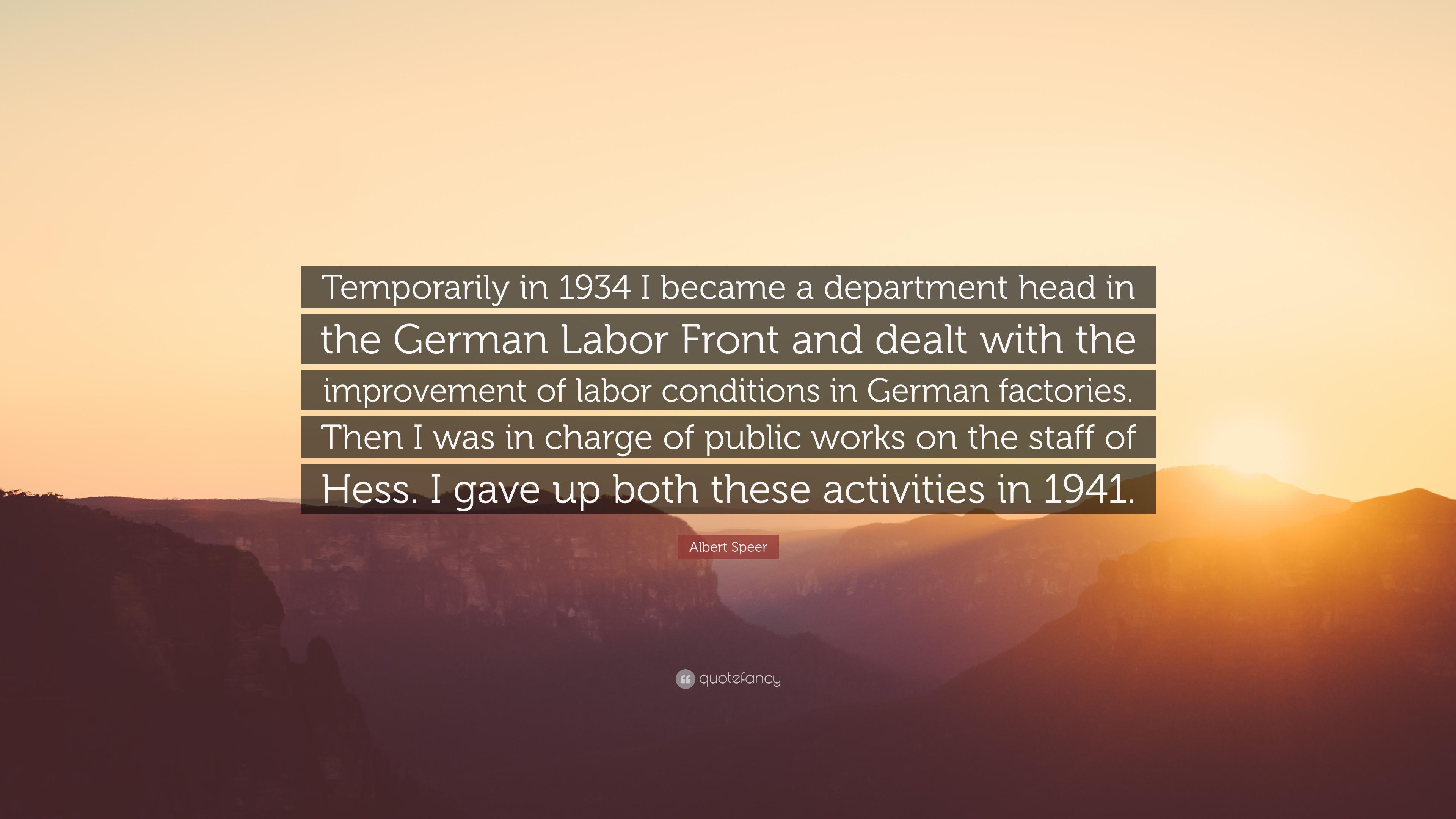 albert speers life and works Albert speer was born on march 19, 1905 in mannheim, baden-württemberg, germany as berthold konrad hermann albert speer he is known for his work on.