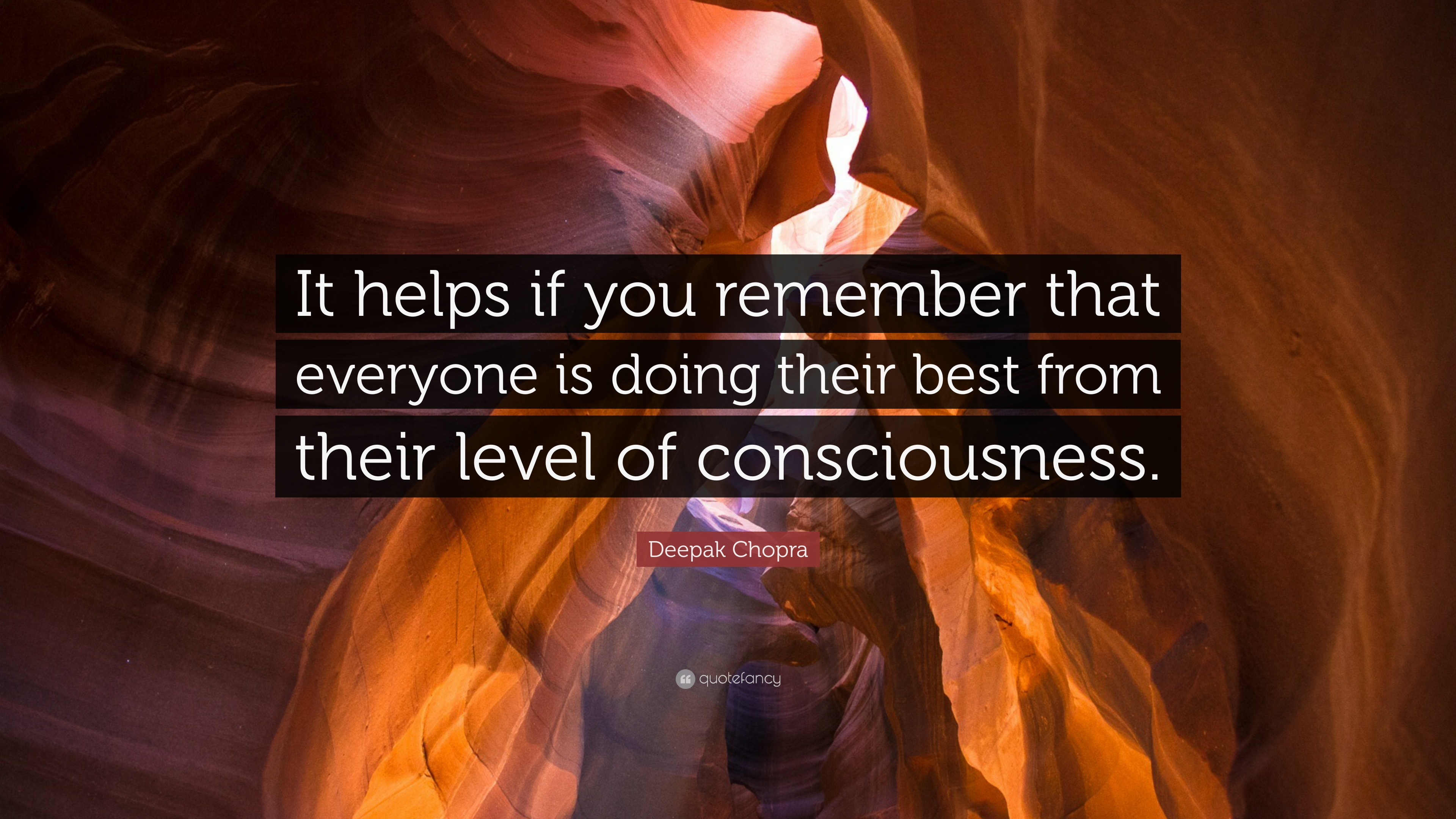 """Deepak Chopra Quote: """"It helps if you remember that ..."""