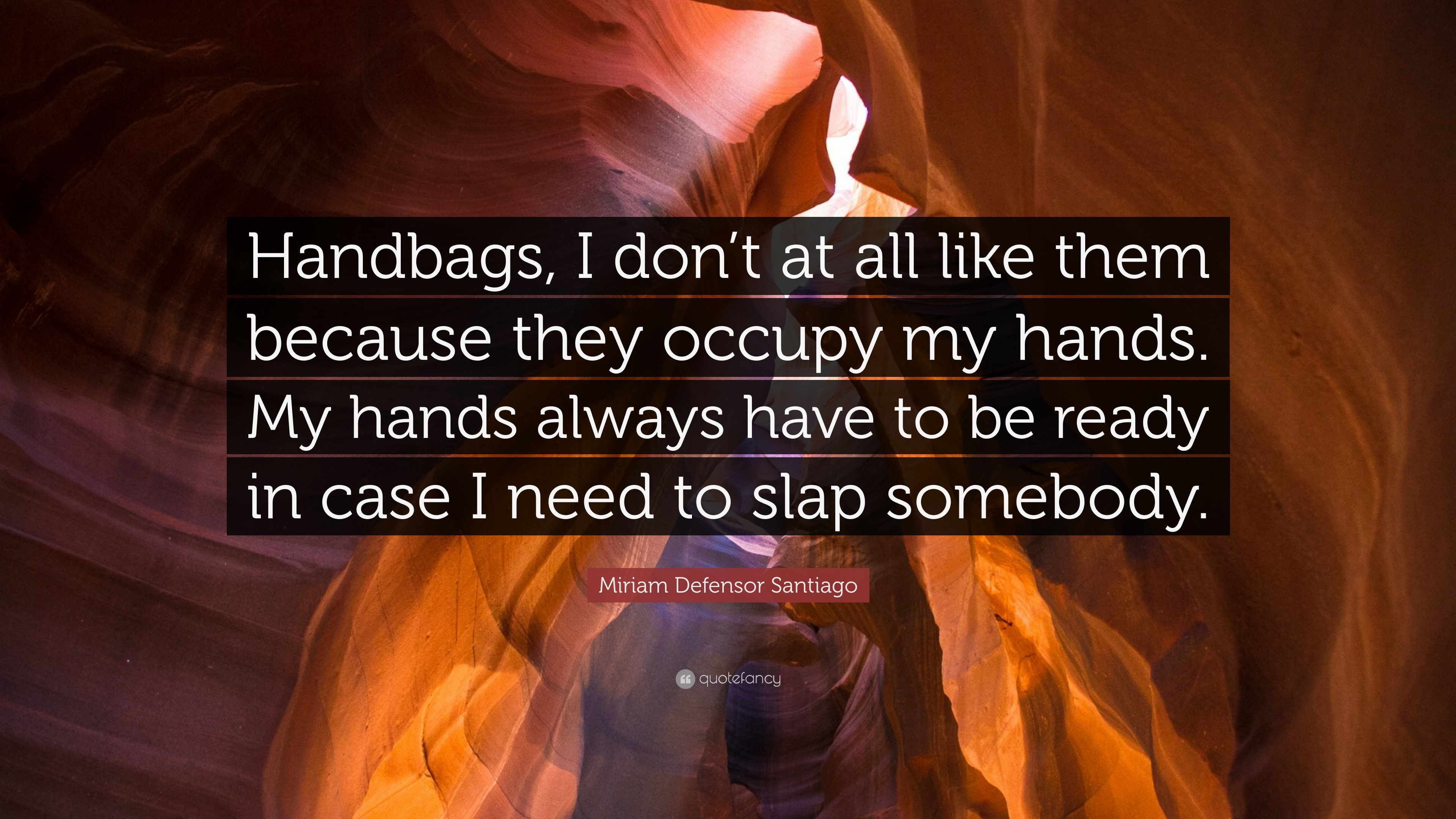 Miriam Defensor Santiago Quote Handbags I Don T At All Like Them