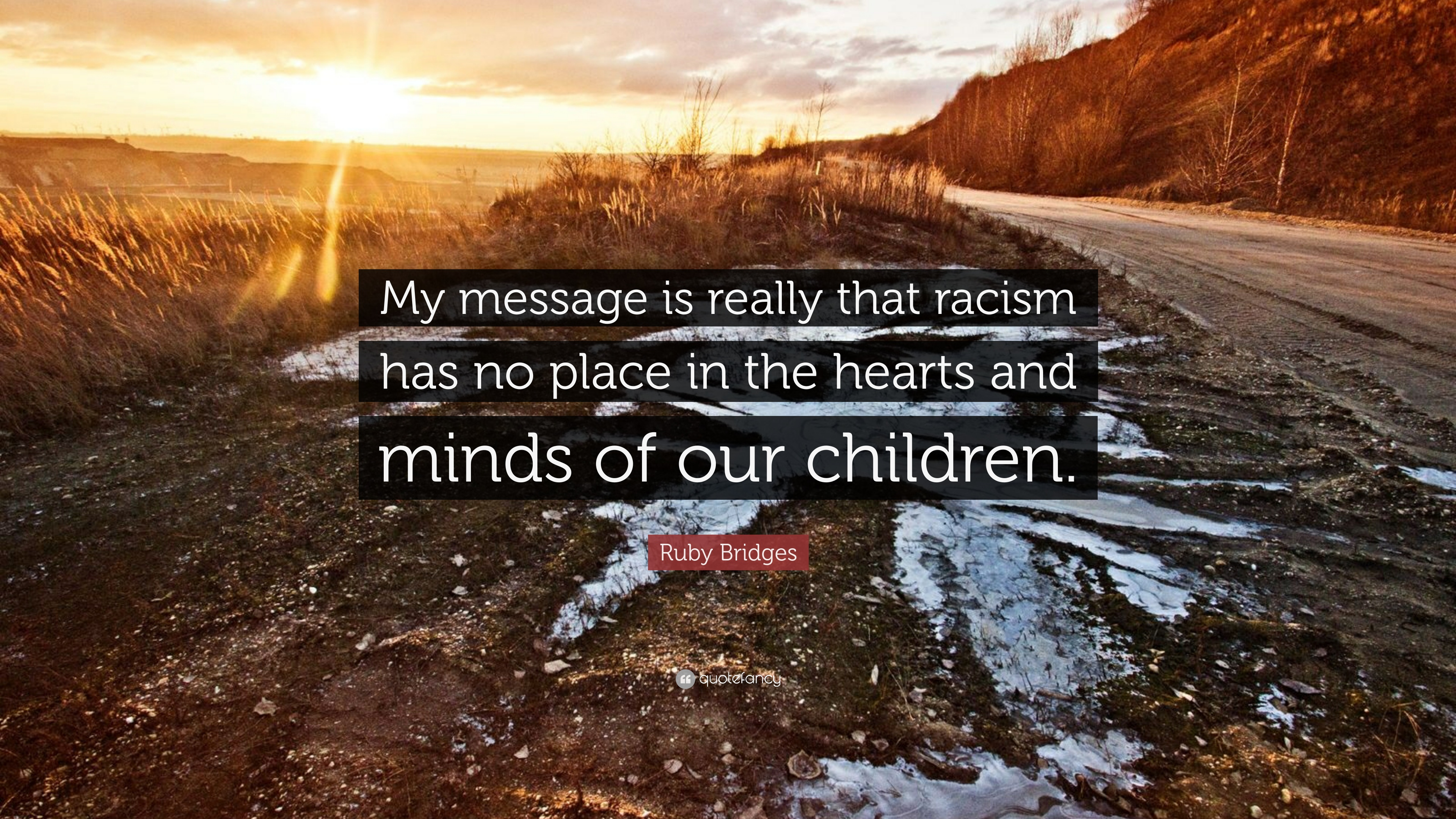 """Ruby Bridges Quotes Ruby Bridges Quote """"My Message Is Really That Racism Has No Place"""