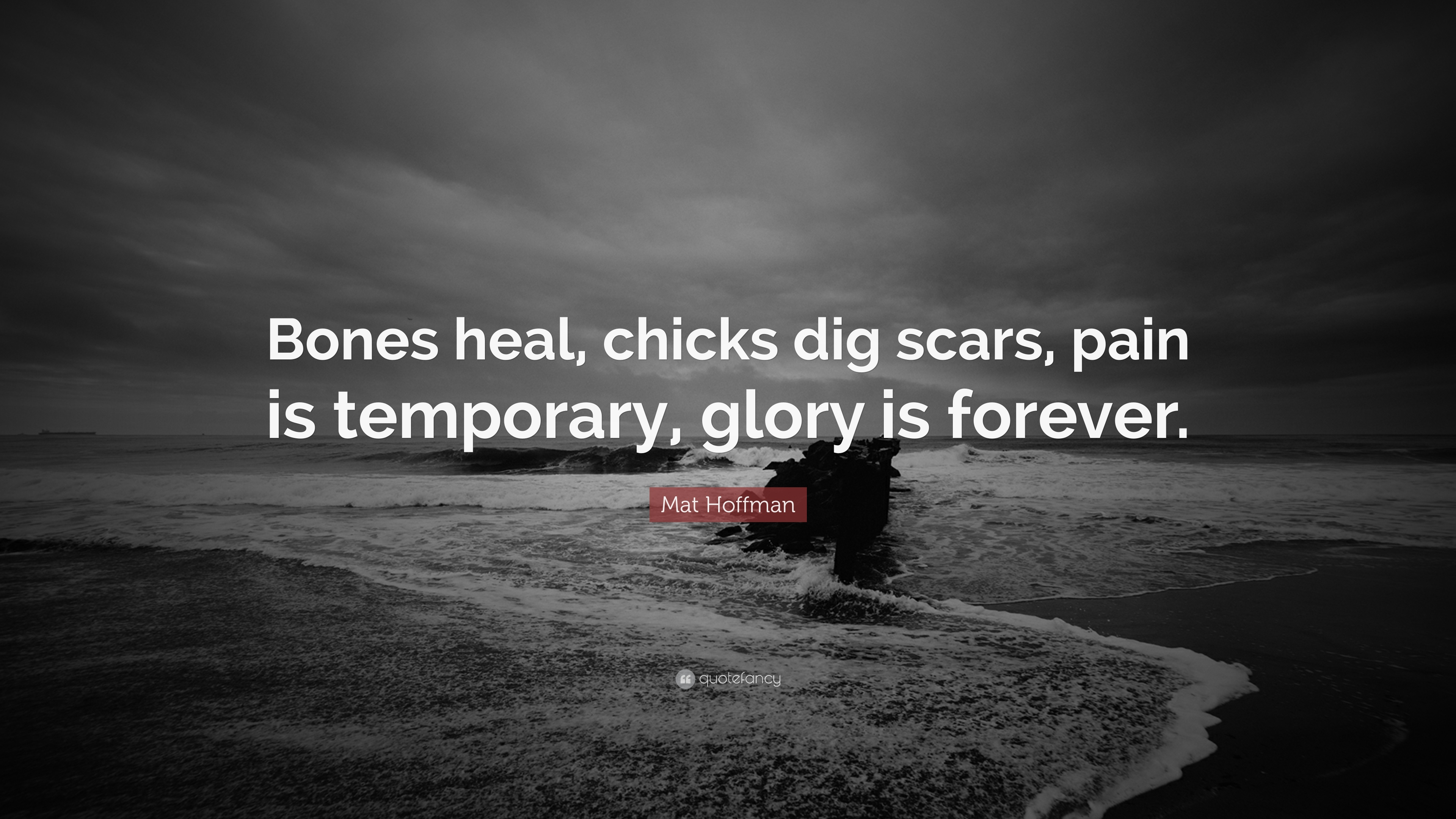 Mat Hoffman Quote Bones Heal Chicks Dig Scars Pain Is Temporary