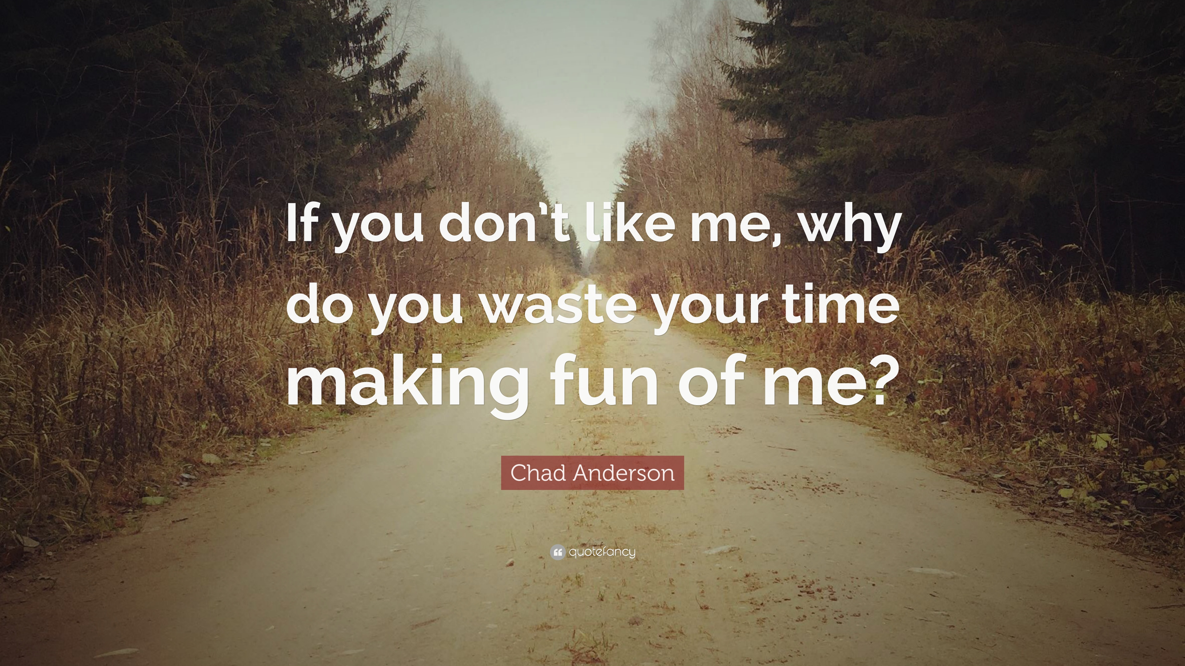 Chad Anderson Quote If You Dont Like Me Why Do You Waste Your
