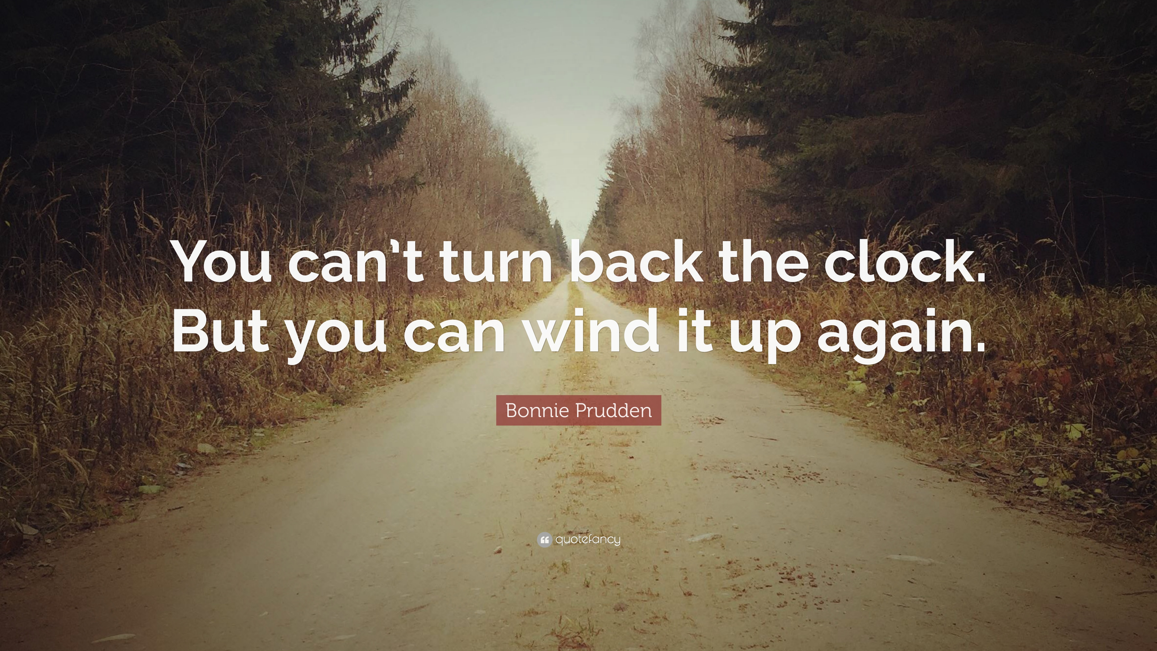 Bonnie Prudden Quote You Cant Turn Back The Clock But You Can