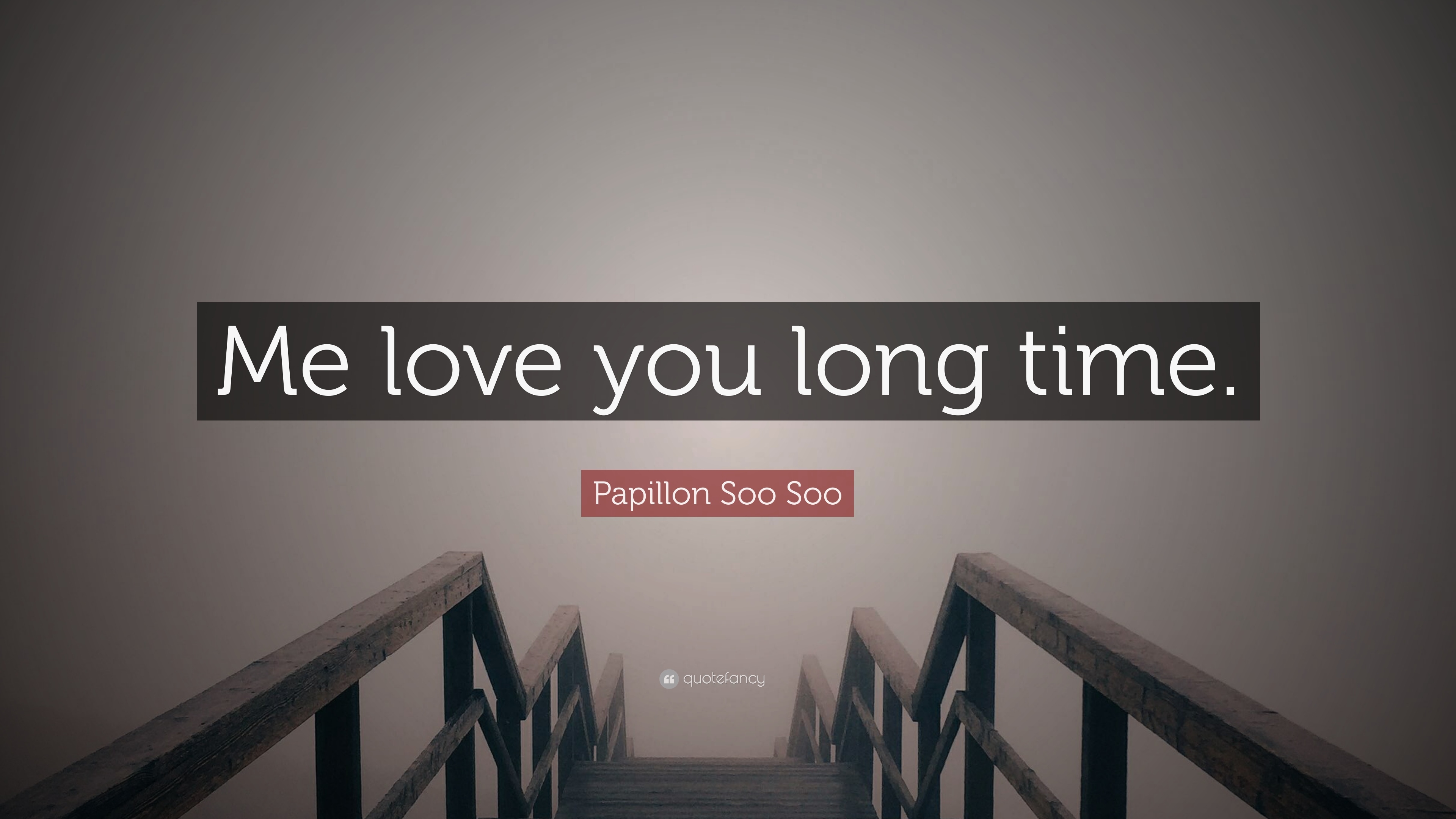 "Papillon Soo Soo Quote ""Me love you long time """