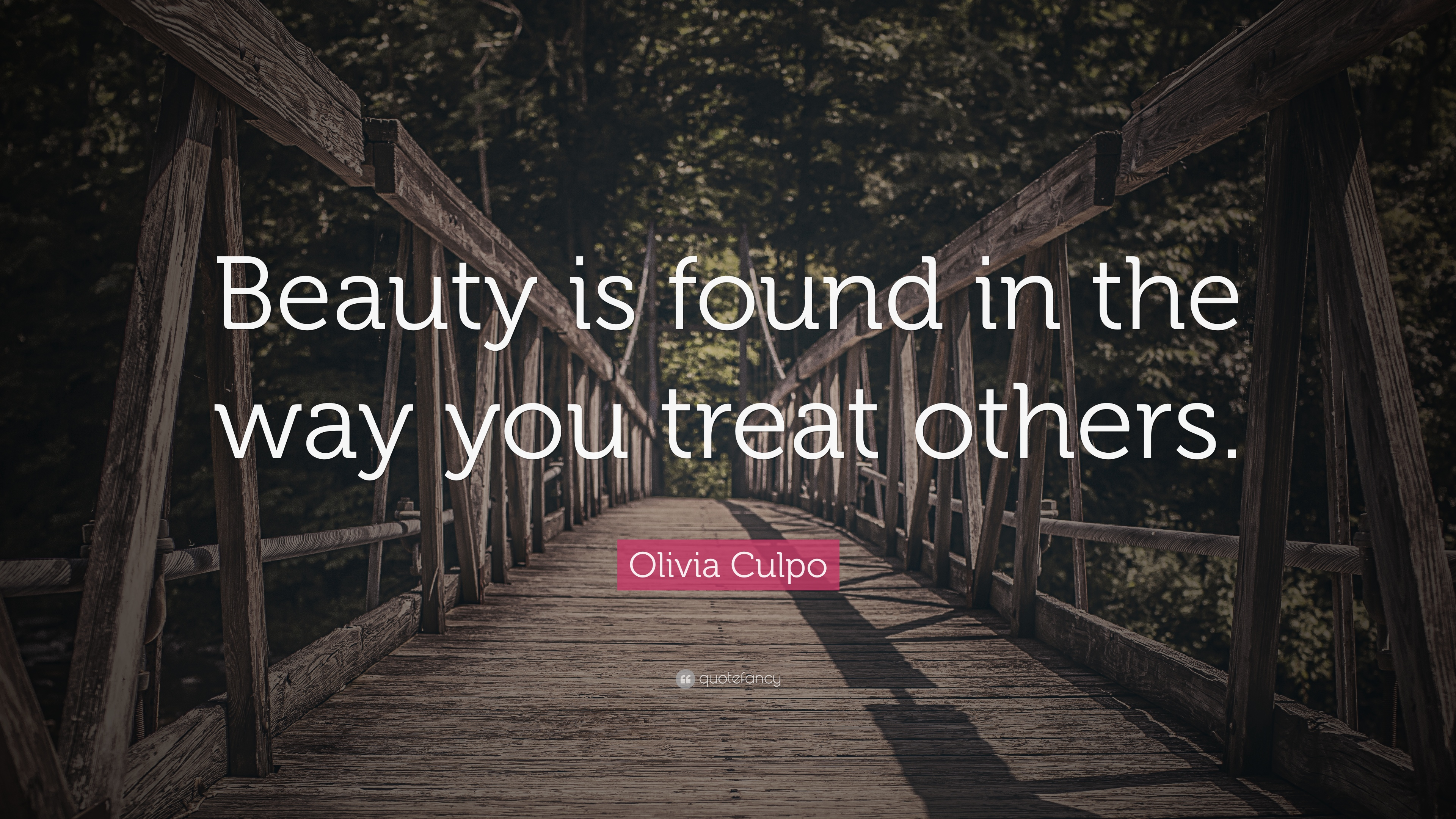 Olivia Culpo Quote Beauty Is Found In The Way You Treat Others