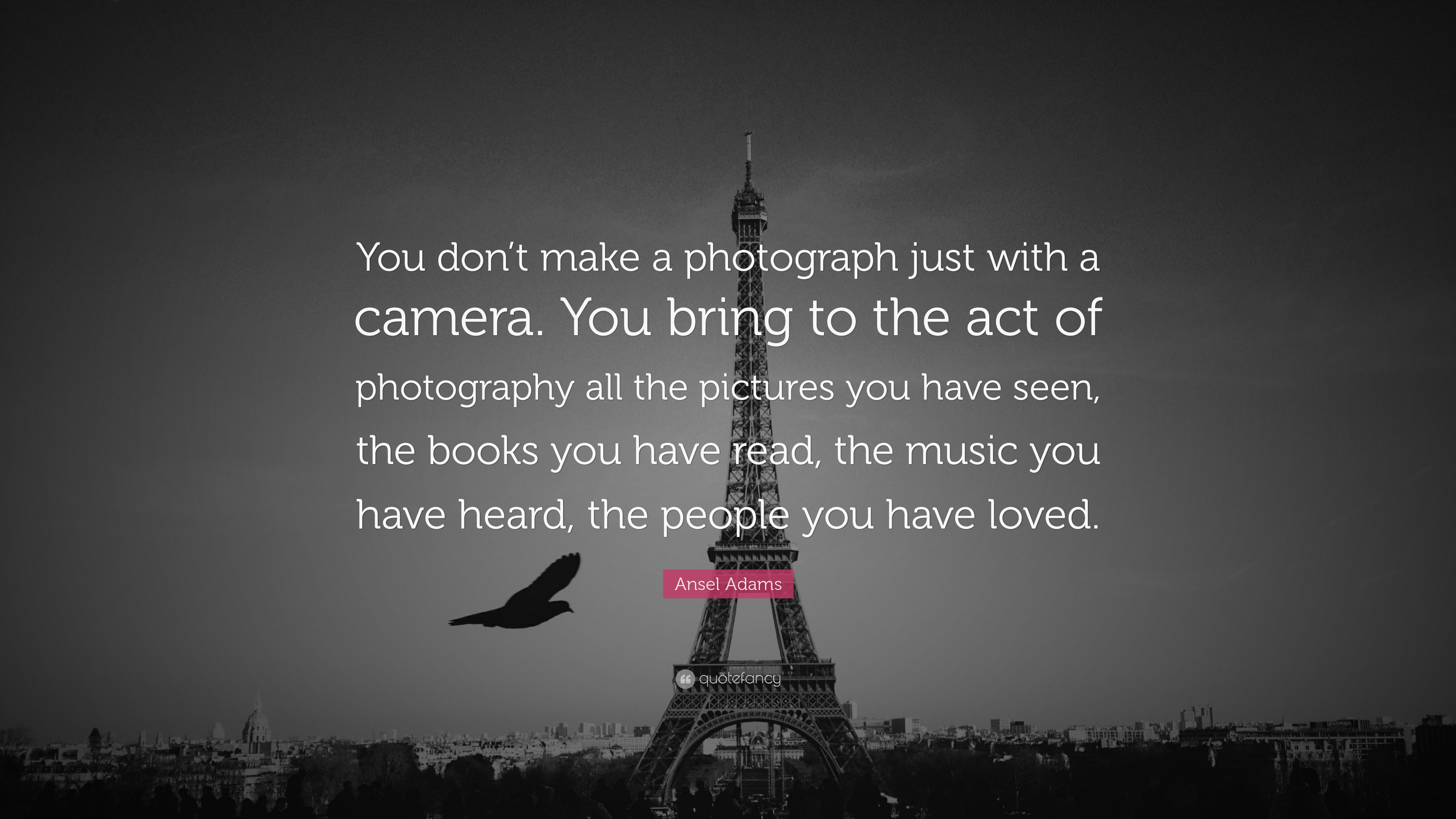 Photography Quotes: U201cYou Donu0027t Make A Photograph Just With A Camera.