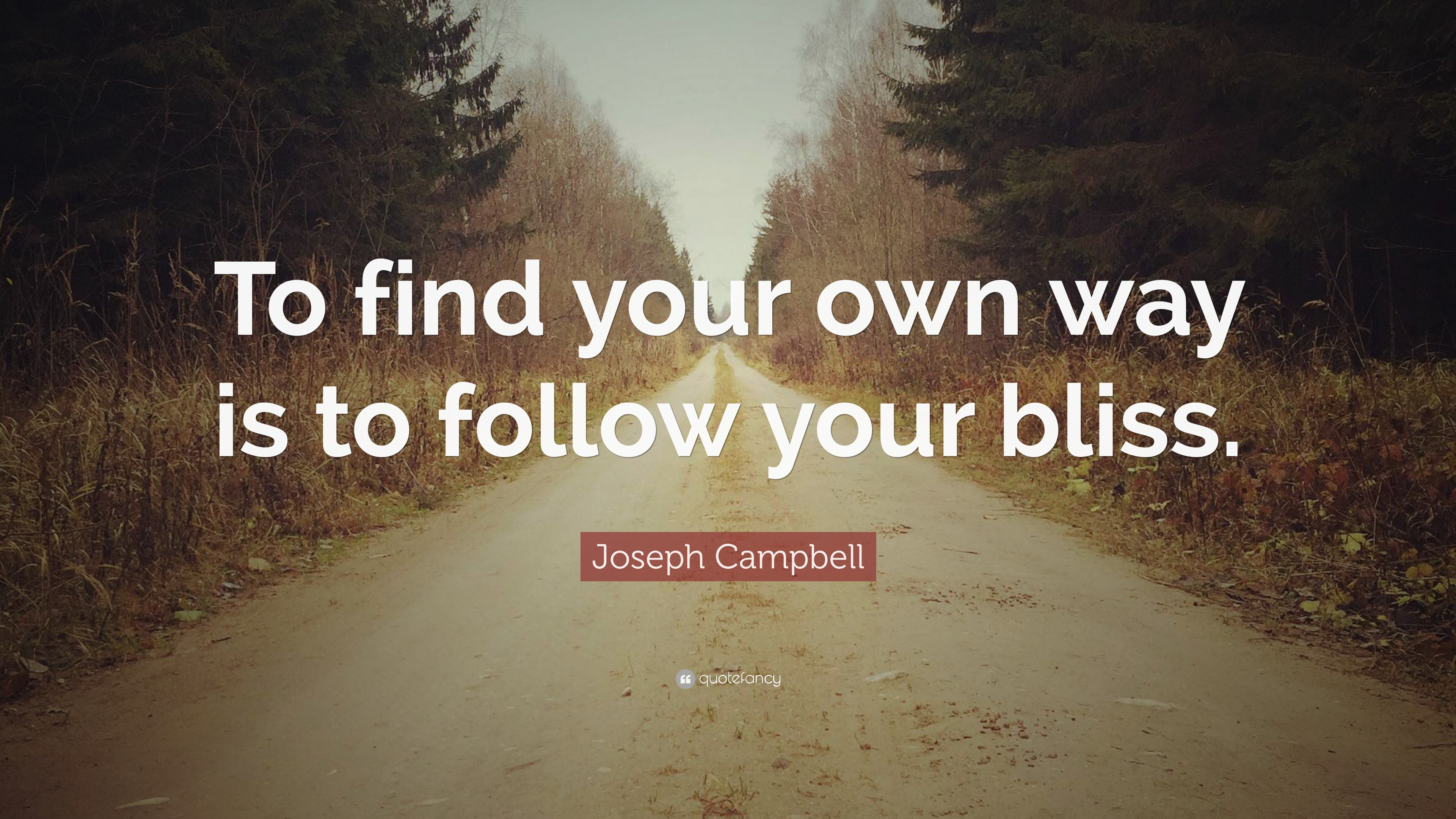 Joseph Campbell Quote   U201cto Find Your Own Way Is To Follow