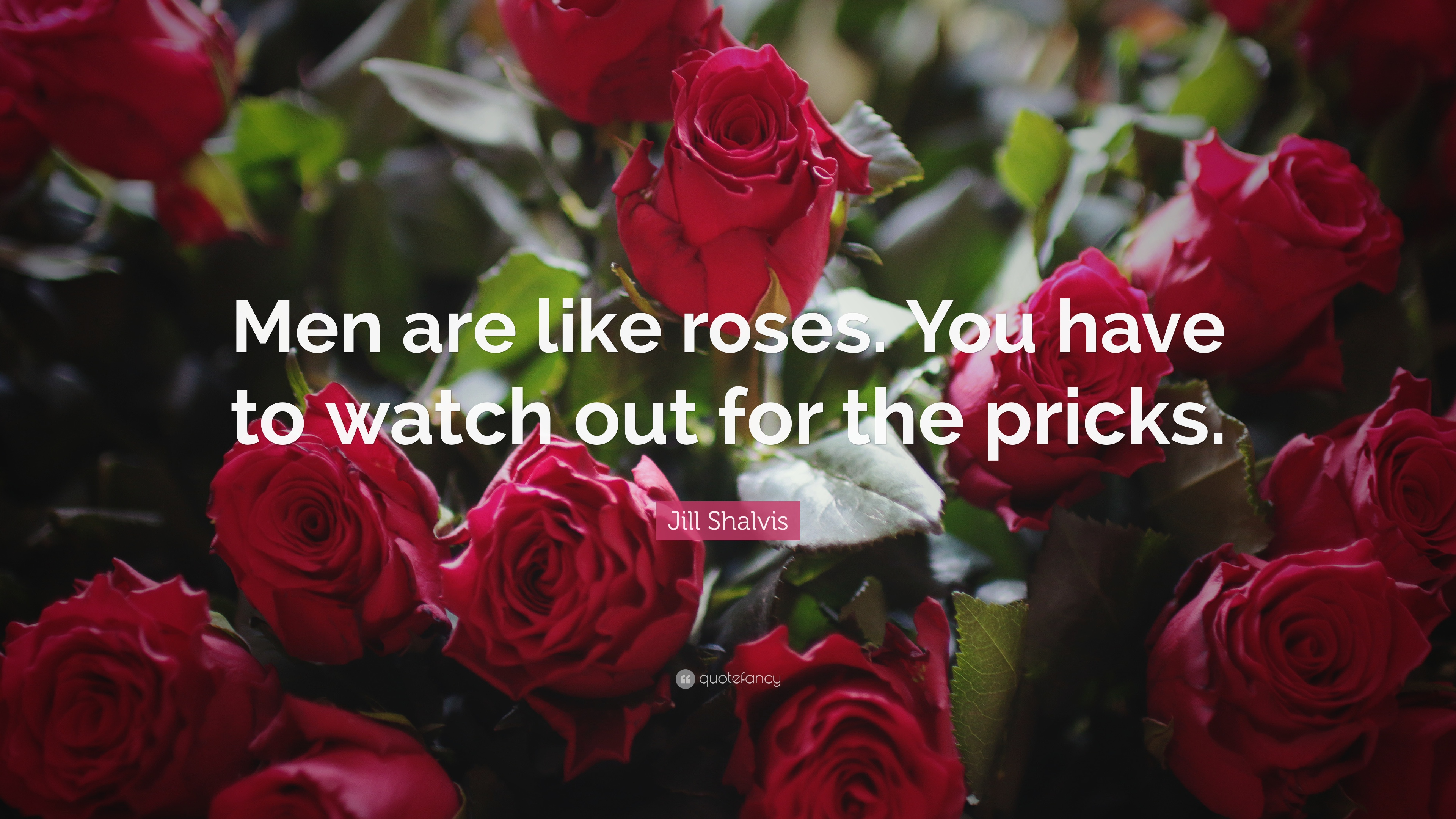 Jill Shalvis Quote Men Are Like Roses You Have To Watch Out For