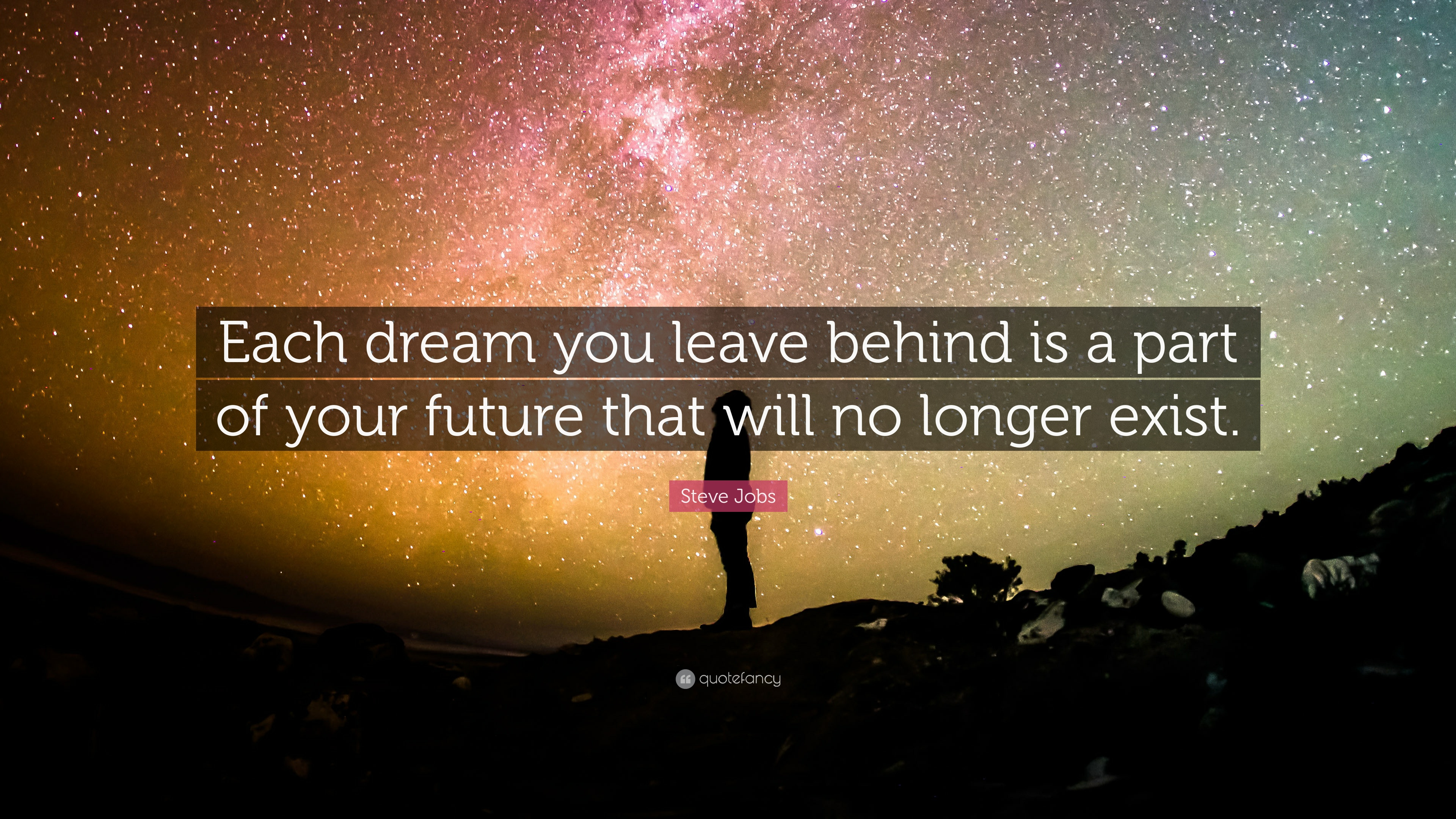 Quotes About Dreams Each Dream You Leave Behind Is A Part Of Your Future