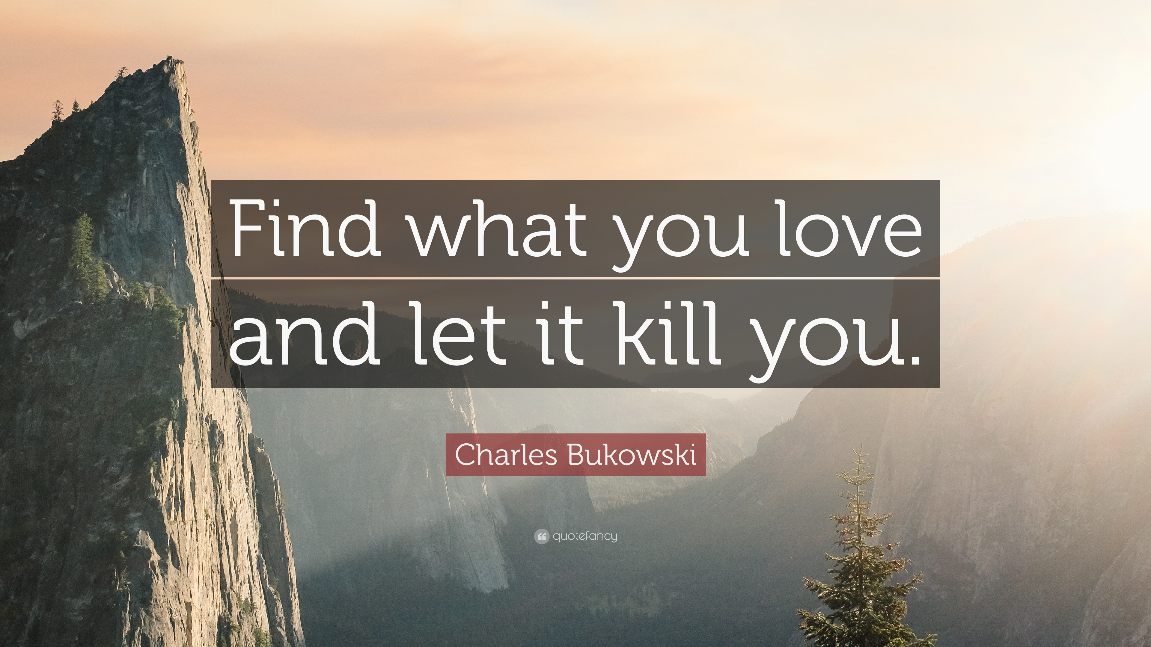 Find what you love and let it kill you bukowski