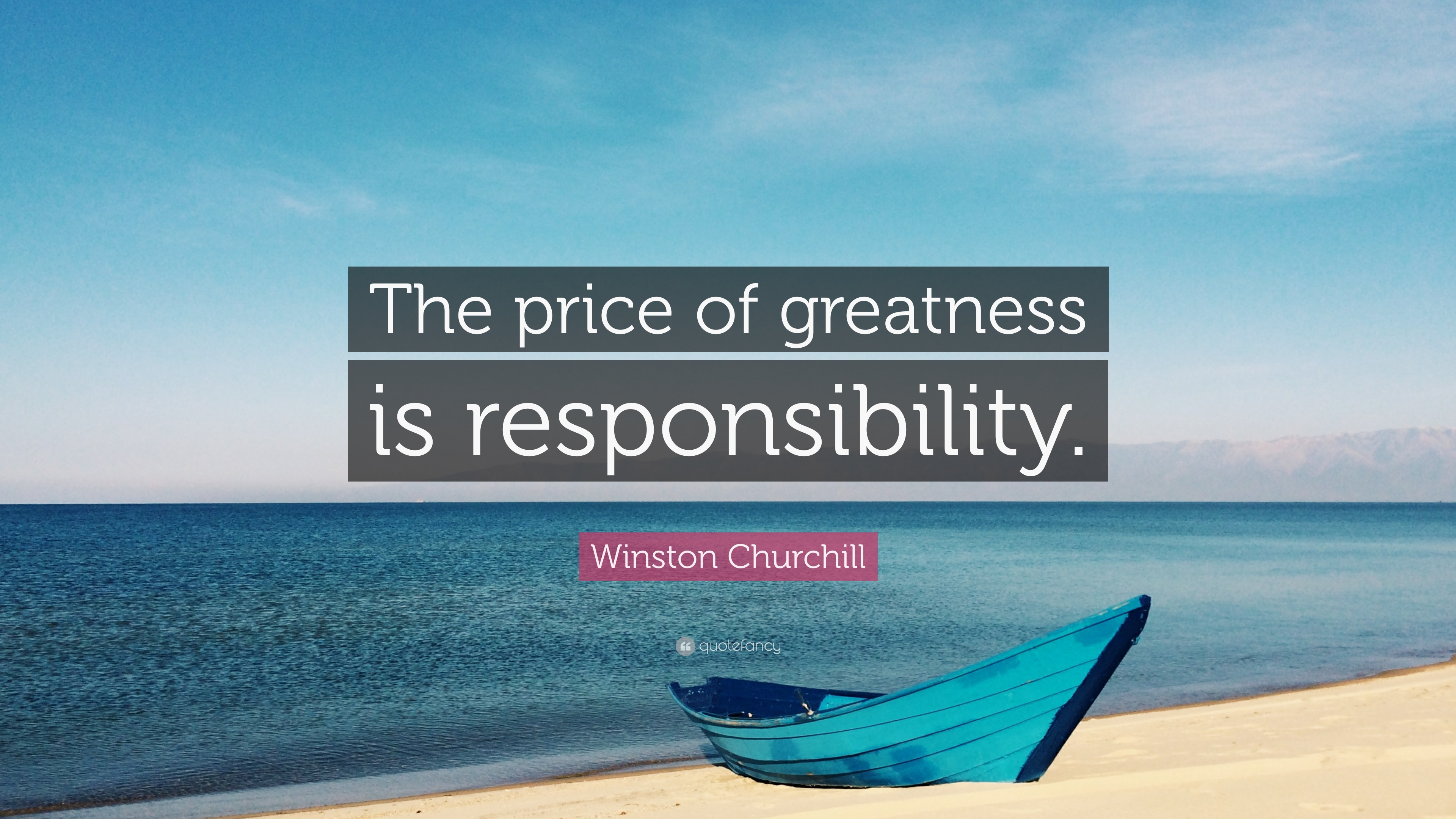 The price of greatness is responsibility essay