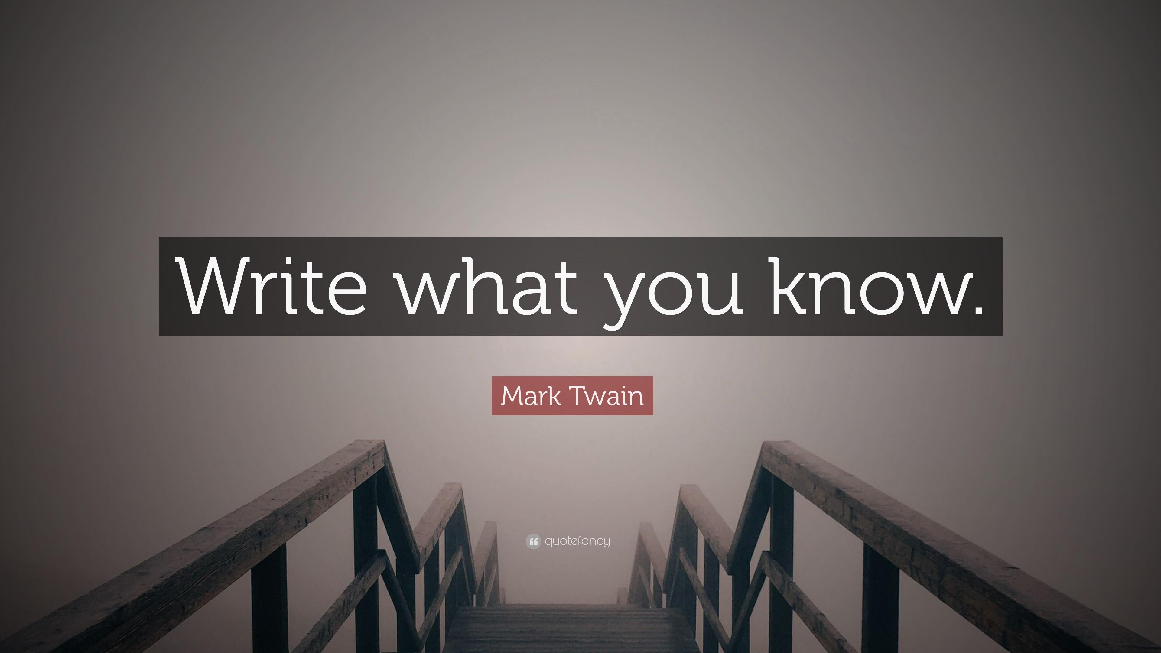 how to write a mark twain story