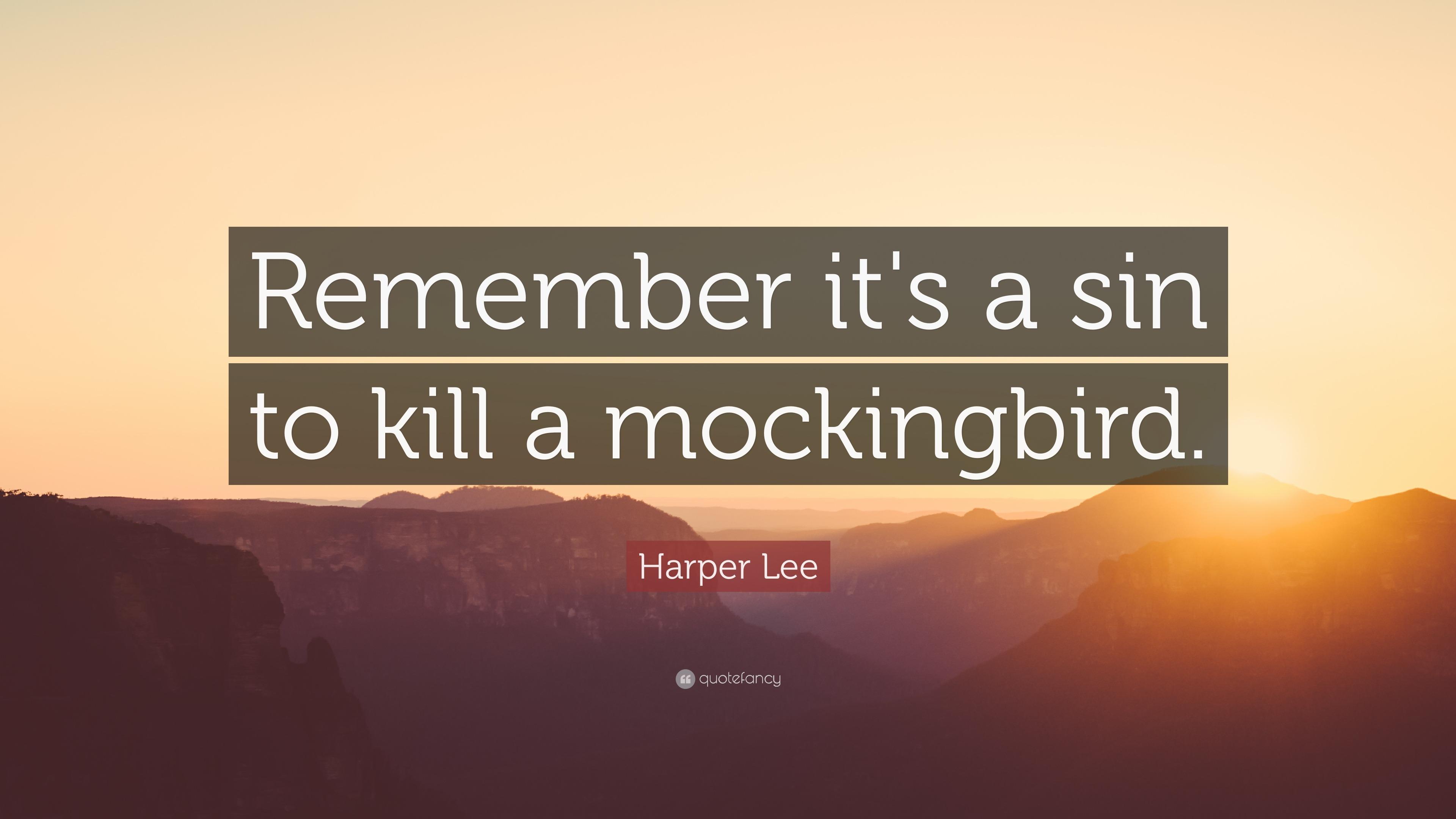 sin to kill a mockingbird