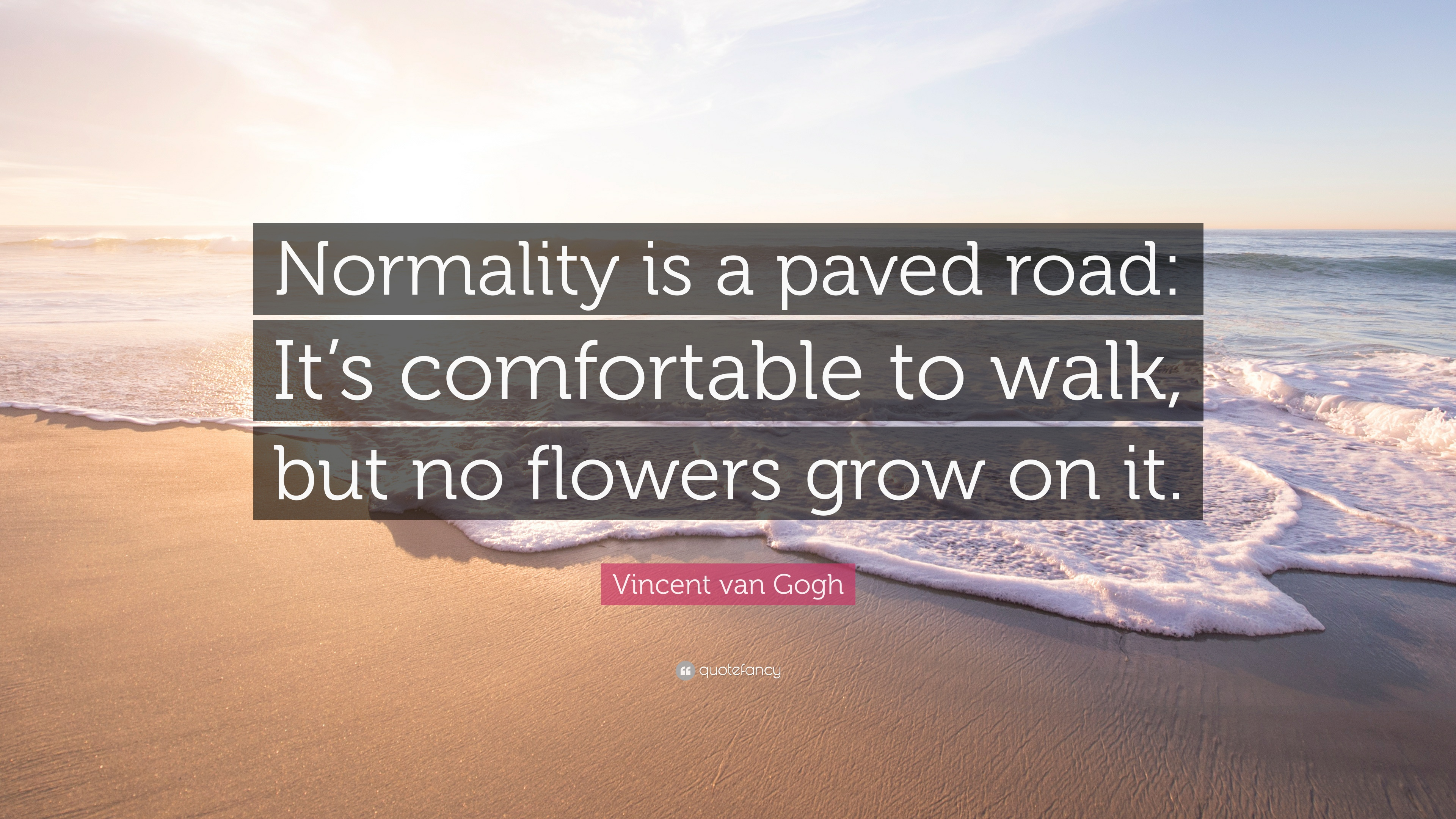 """Vincent van Gogh Quote: """"Normality is a paved road: It's ..."""