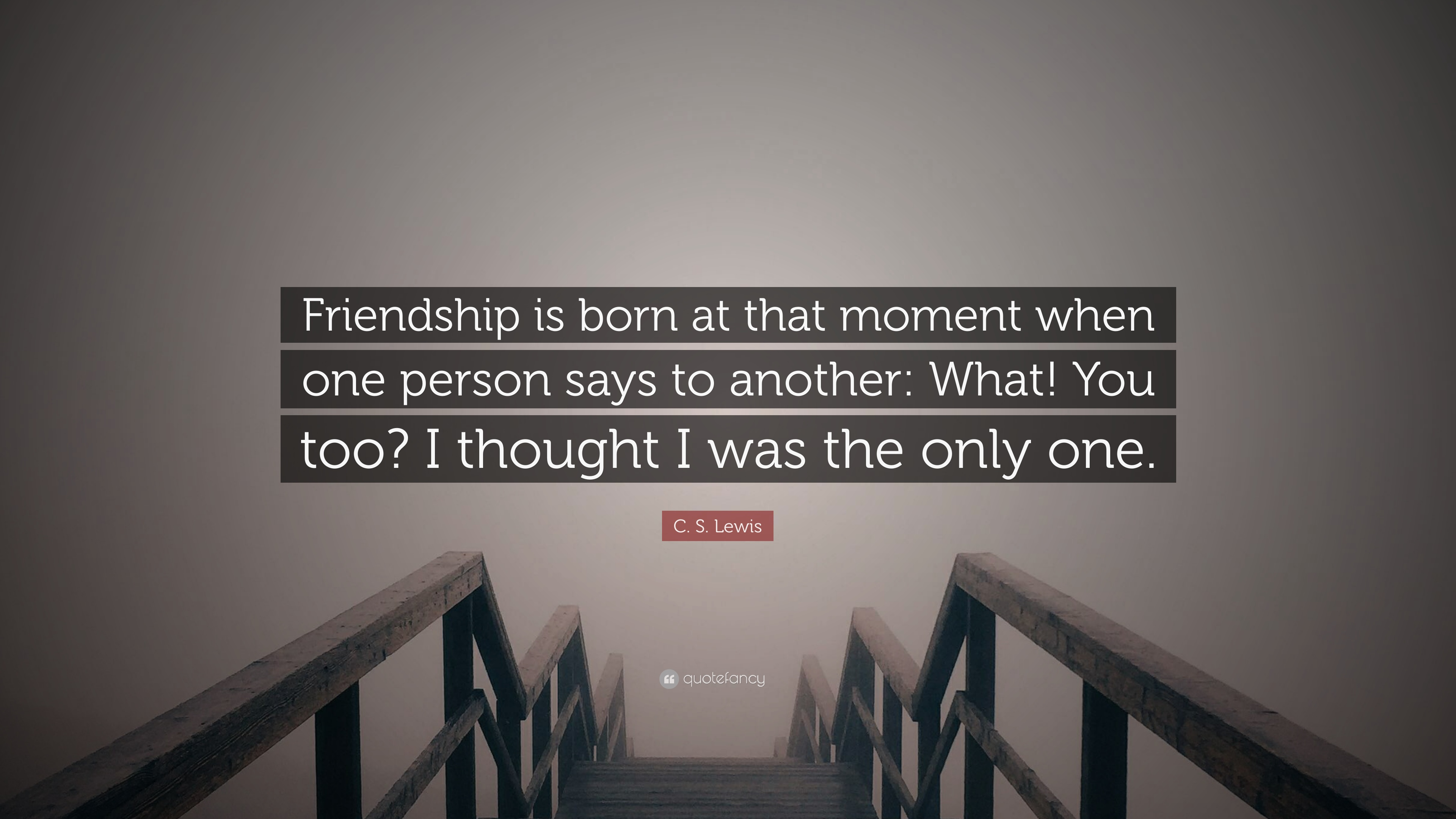 c s lewis quote friendship is born at that moment when one person says to