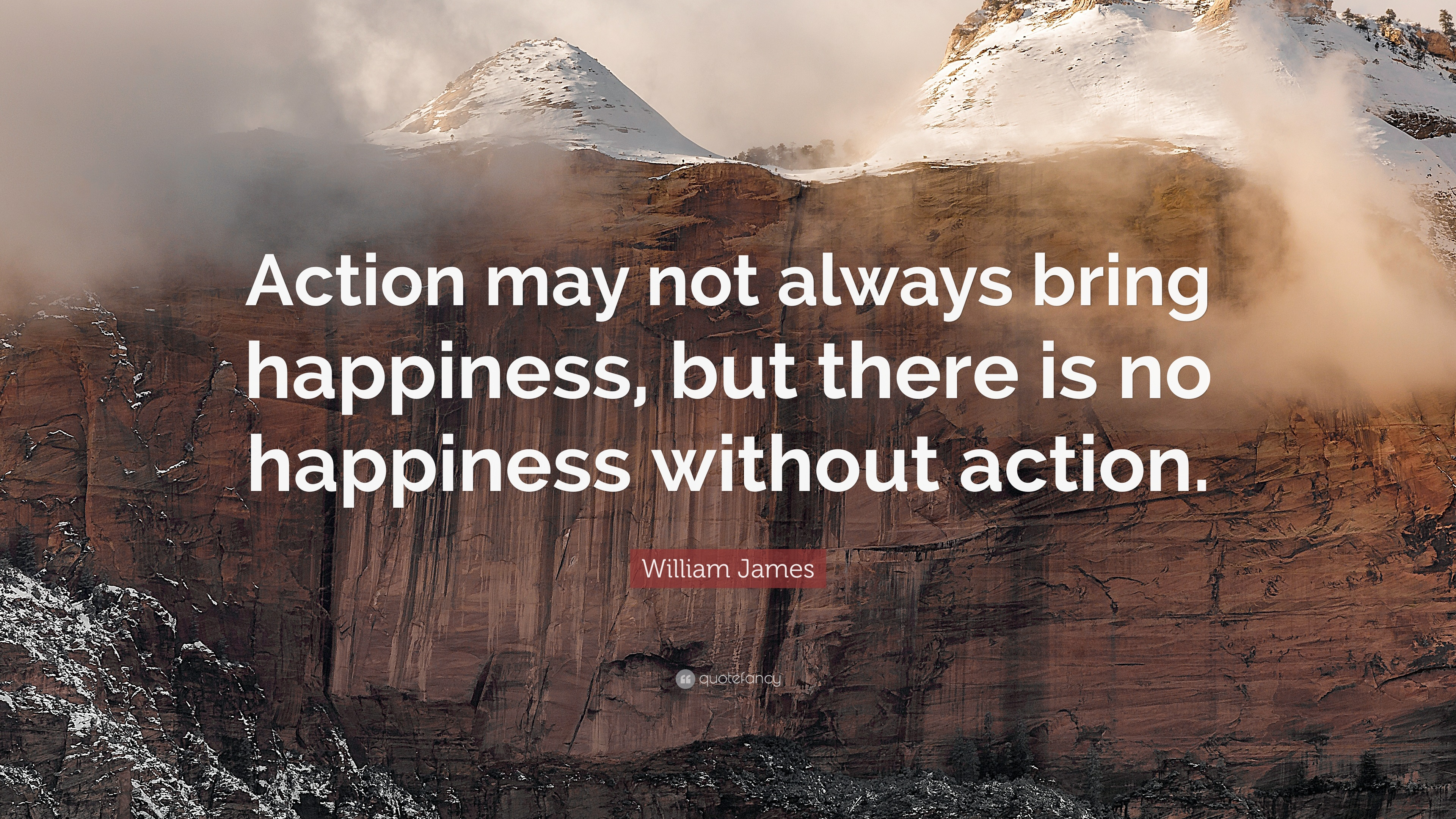 """Action may not always bring happiness; but there is no happiness without action."""