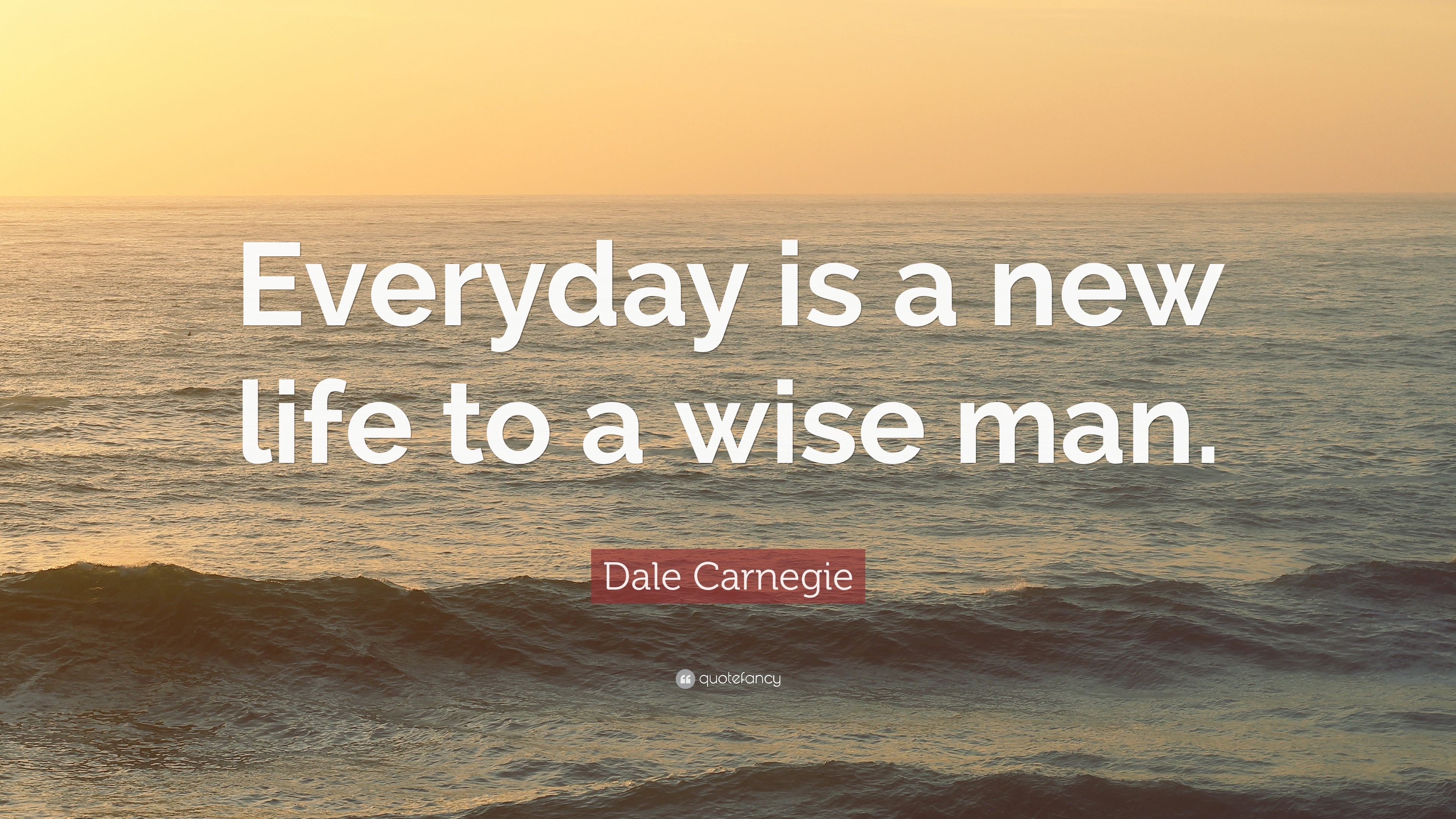 Dale Carnegie Quote Everyday Is A New Life To A Wise Man 12