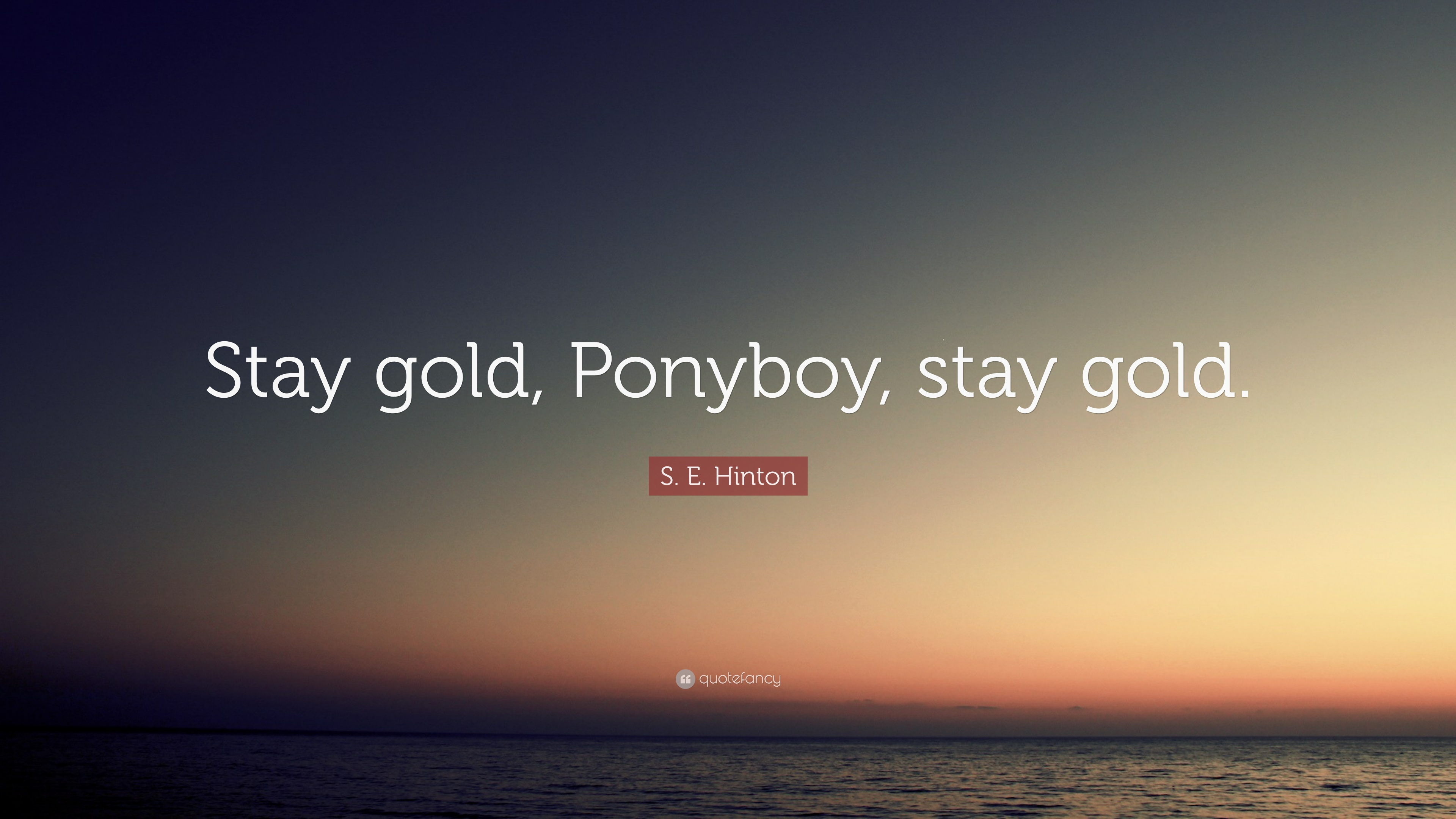 Stay Golden Ponyboy Quote Video edited by shaun ladymon the outsiders. alessandro orsini