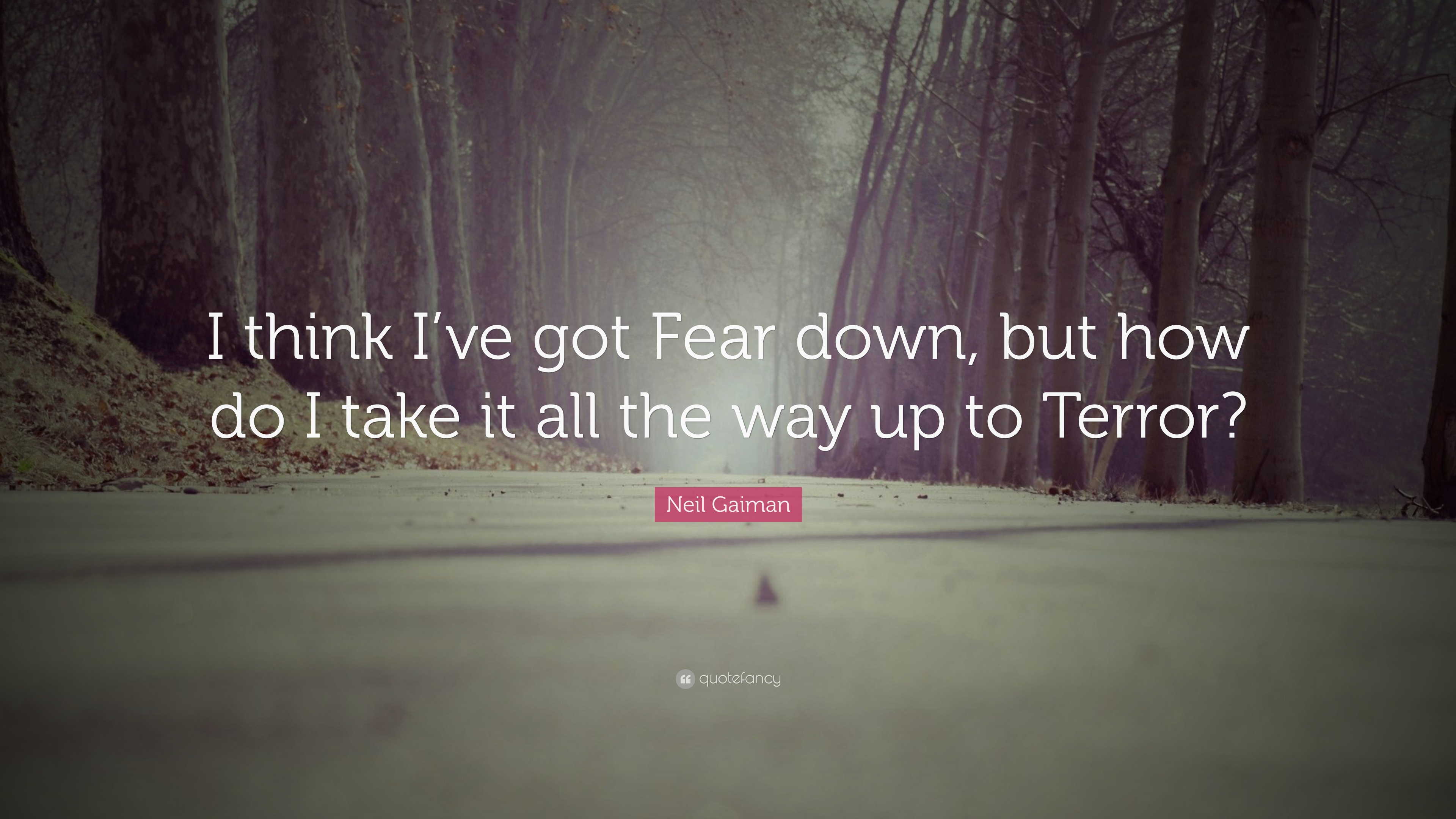 neil gaiman quote i think i ve got fear down but how do