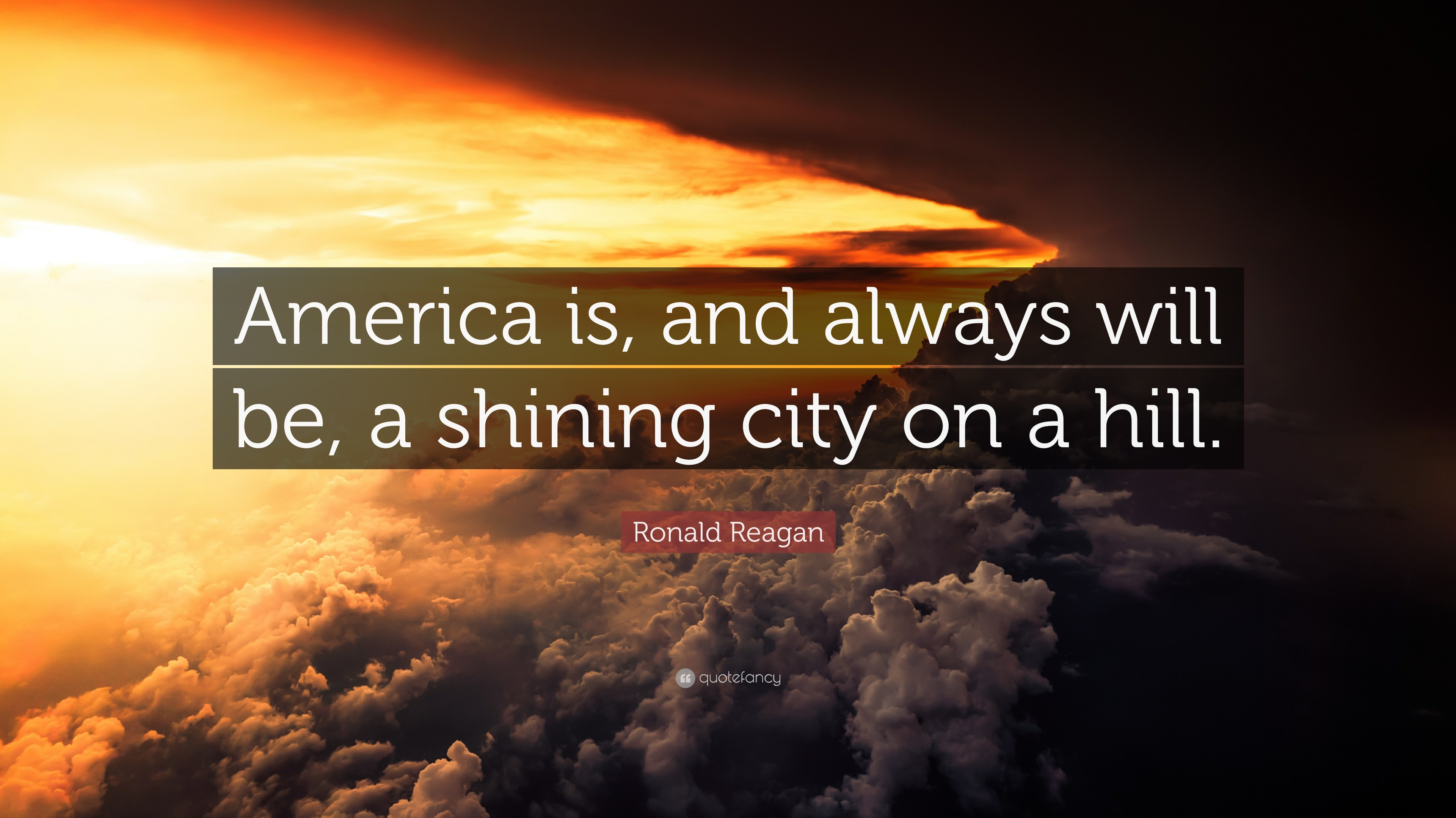 ronald reagan quote �america is and always will be a