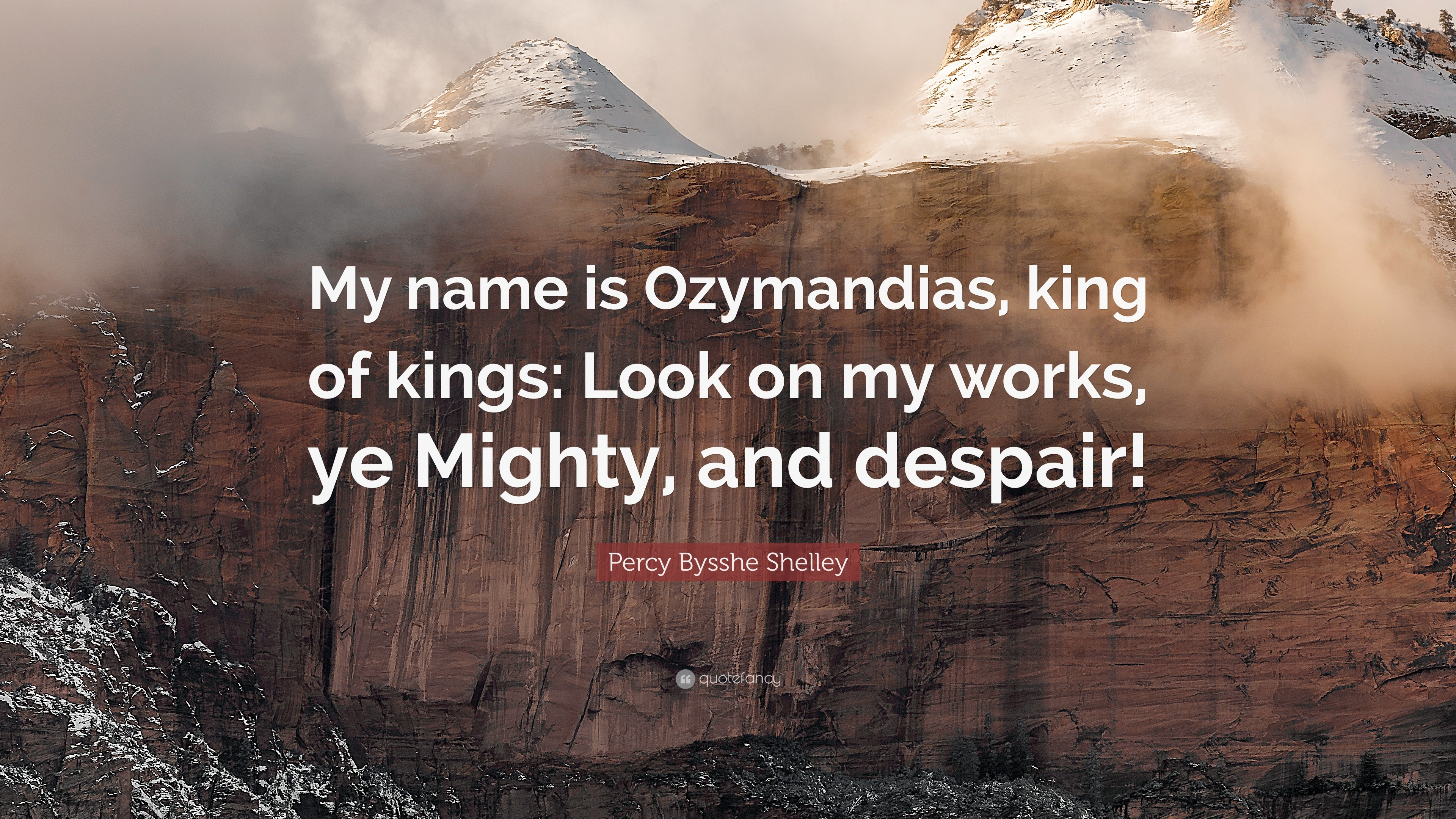 Percy bysshe shelley quotes quotesgram - Filename 1720044 Percy Bysshe Shelley Quote My Name Is Ozymandias King Of Kings Jpg