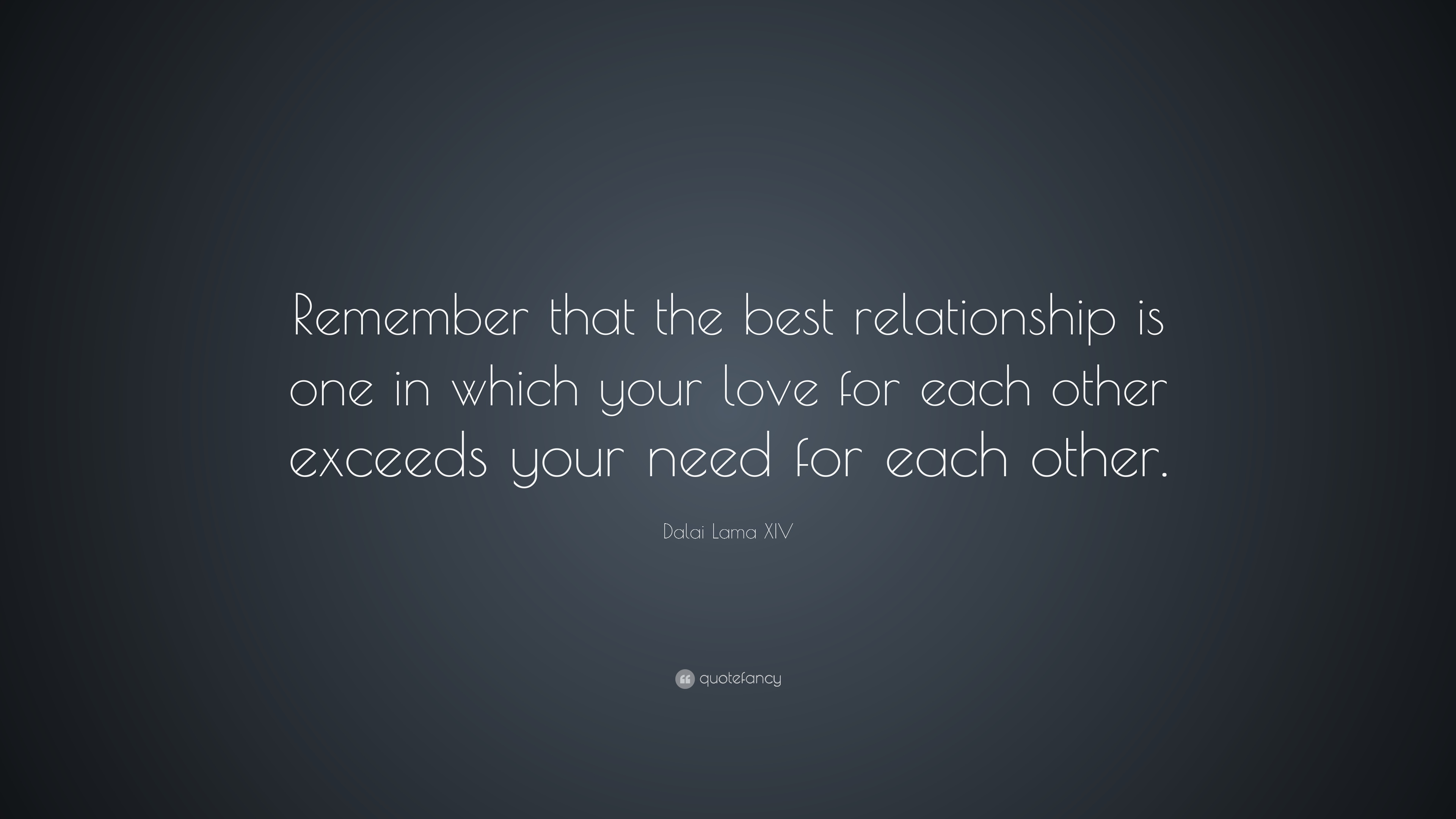 Image of: Love Quotes Dalai Lama Xiv Quote remember That The Best Relationship Is One In Which Your Sayingimagescom Dalai Lama Xiv Quote remember That The Best Relationship Is One In