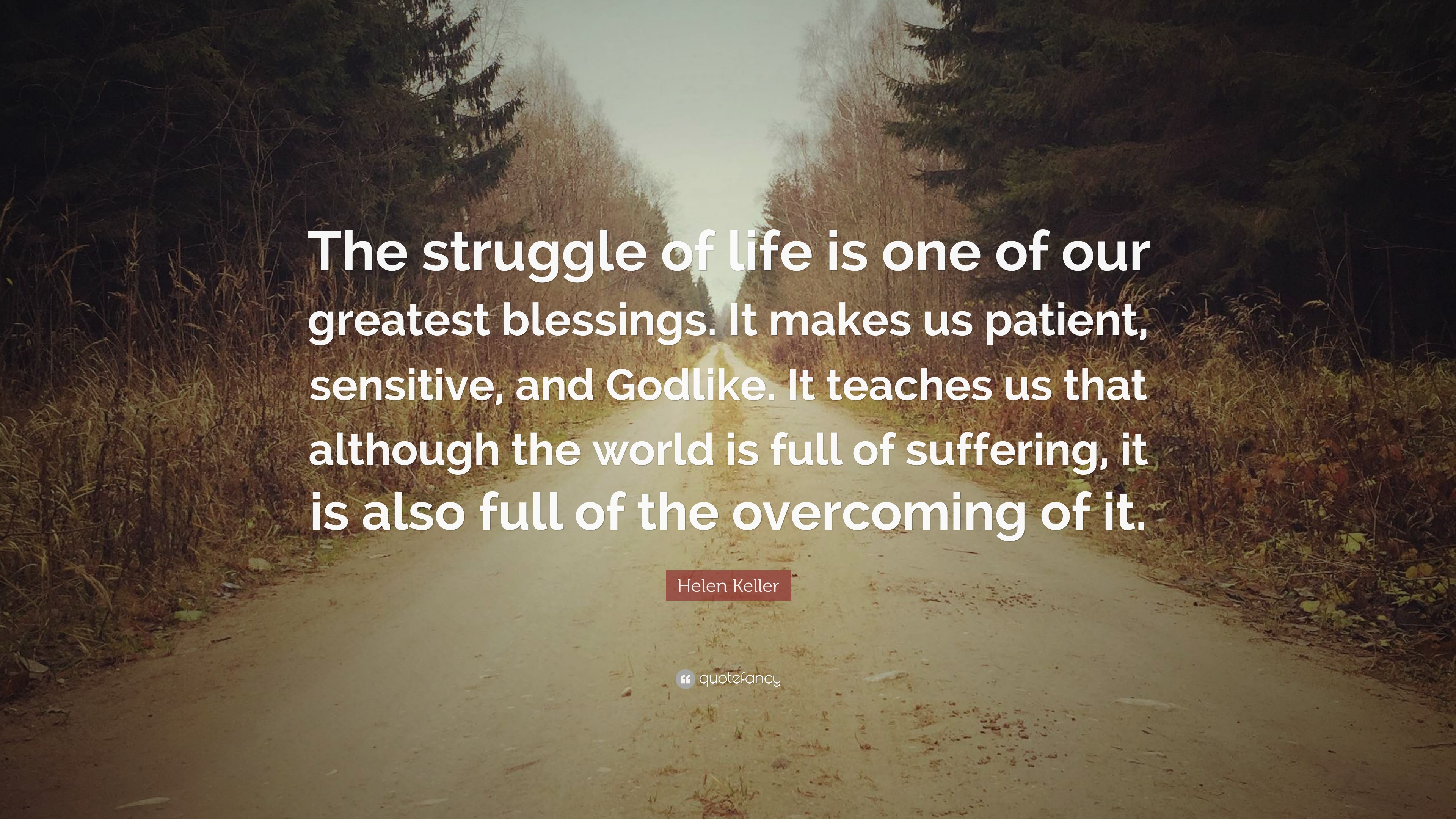 Helen Keller Quote The Struggle Of Life Is One Of Our Greatest