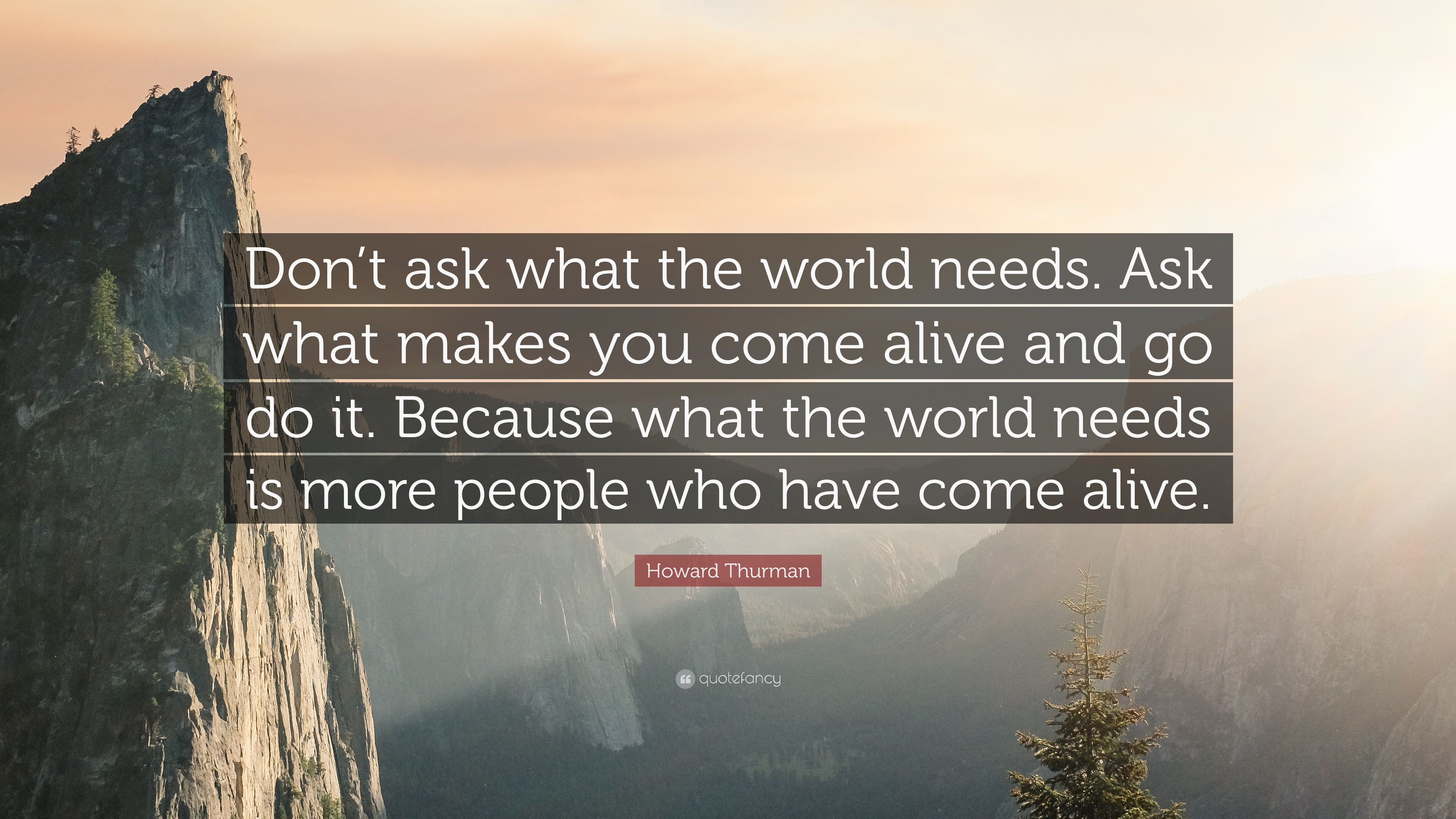 """Howard Thurman Quote: """"Don't ask what the world needs. Ask what ..."""