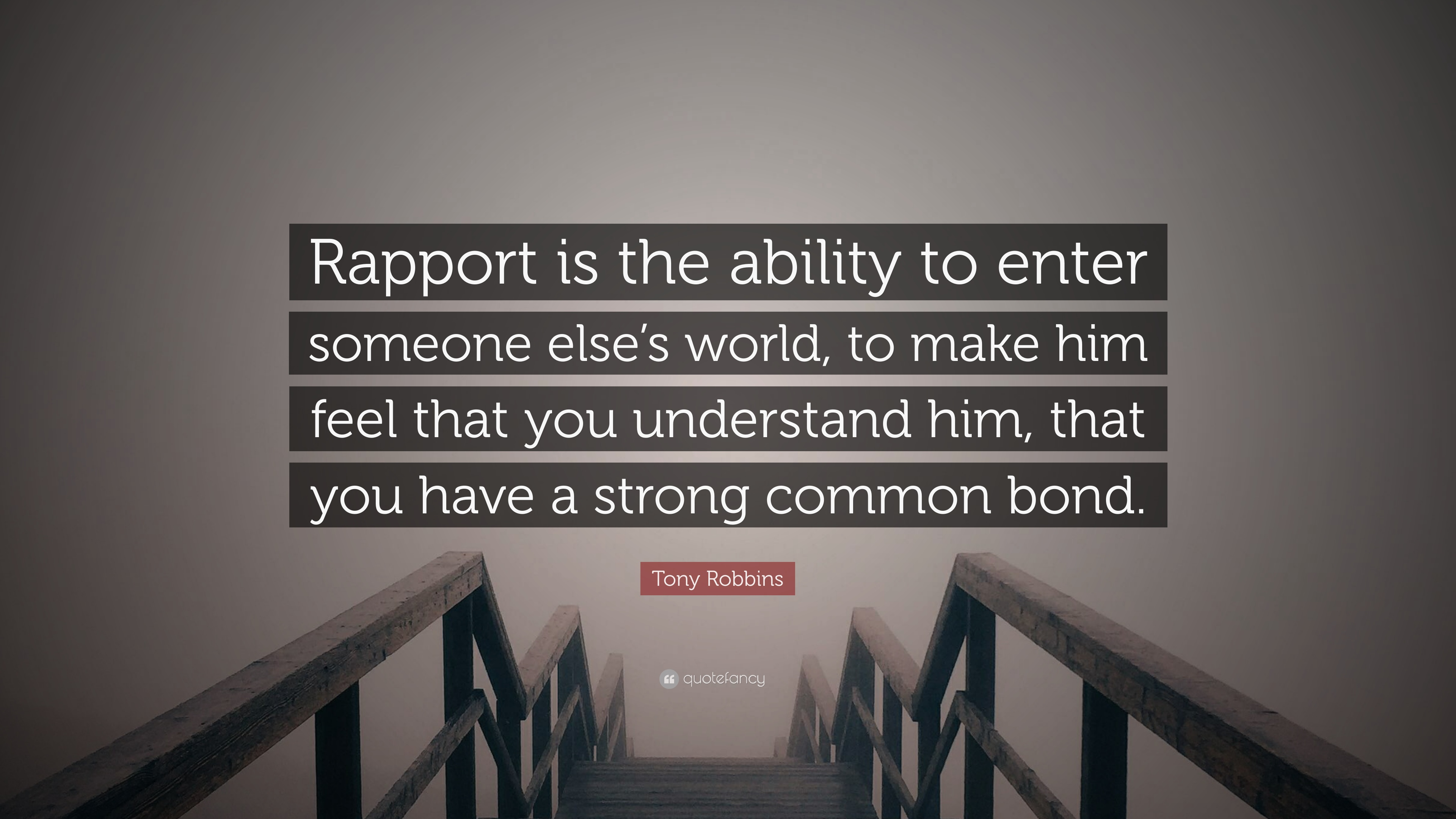Repore with someone