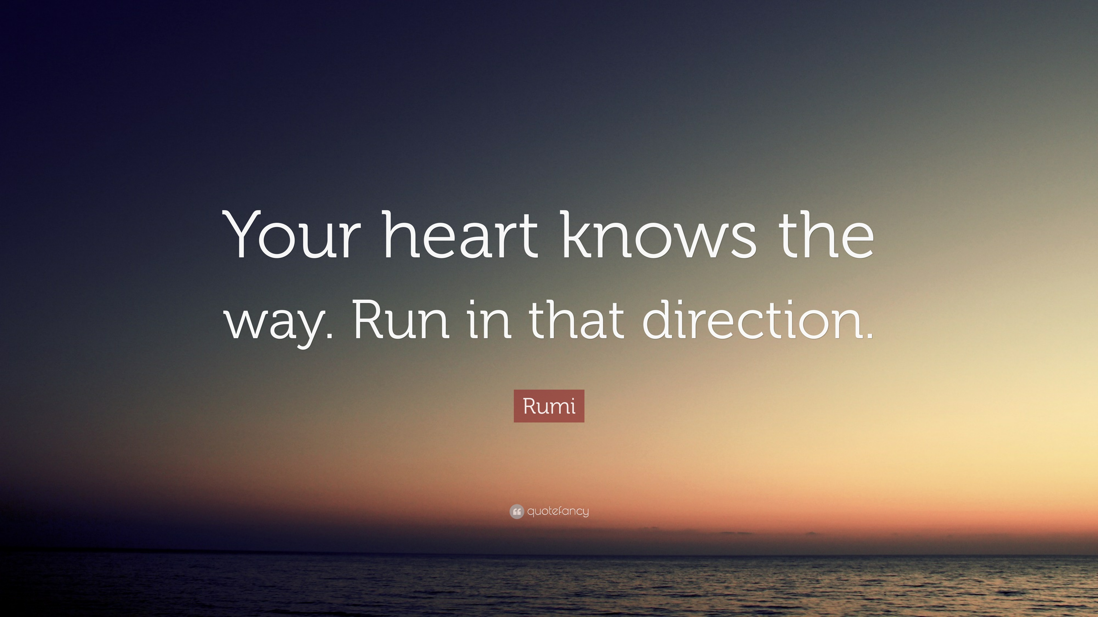 Rumi Quote Your Heart Knows The Way Run In That Direction 12