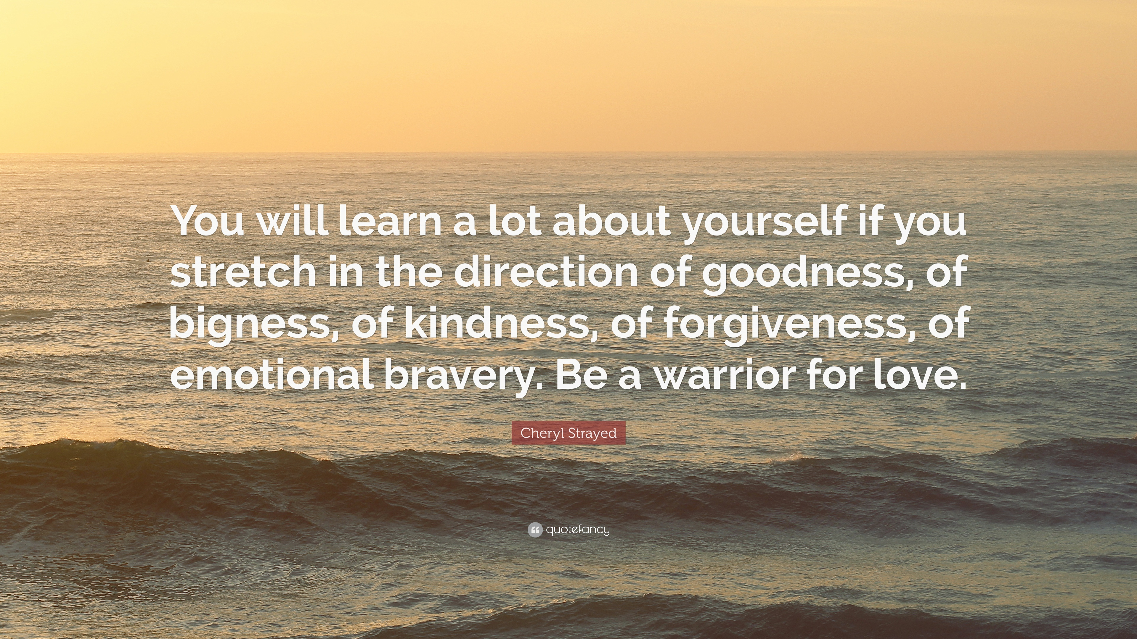 Cheryl Strayed Quote You Will Learn A Lot About Yourself If You