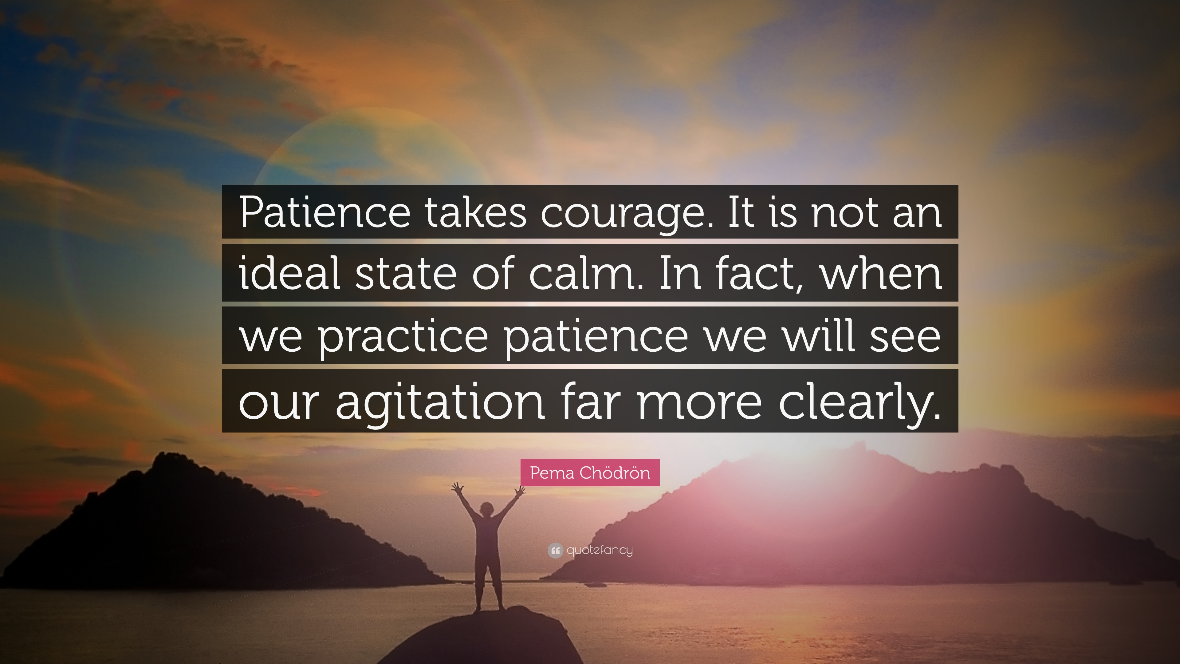 Pema Chdrn Quote Patience Takes Courage It Is Not An Ideal