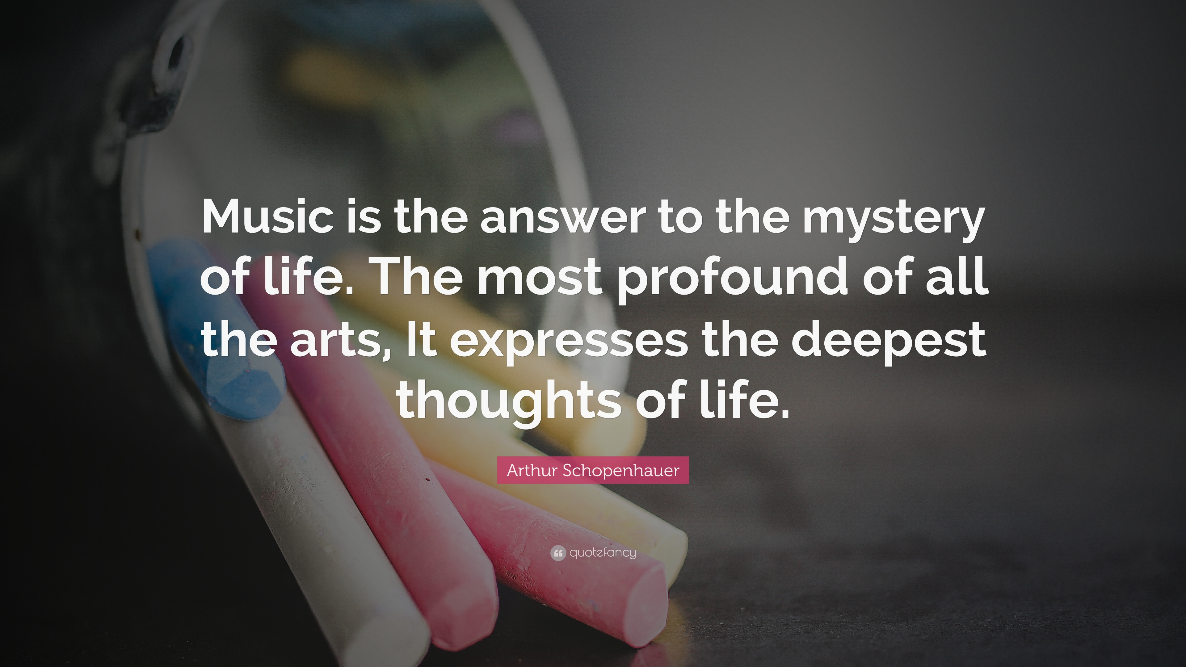 "Profound Quotes About Life Arthur Schopenhauer Quote ""Music Is The Answer To The Mystery Of"