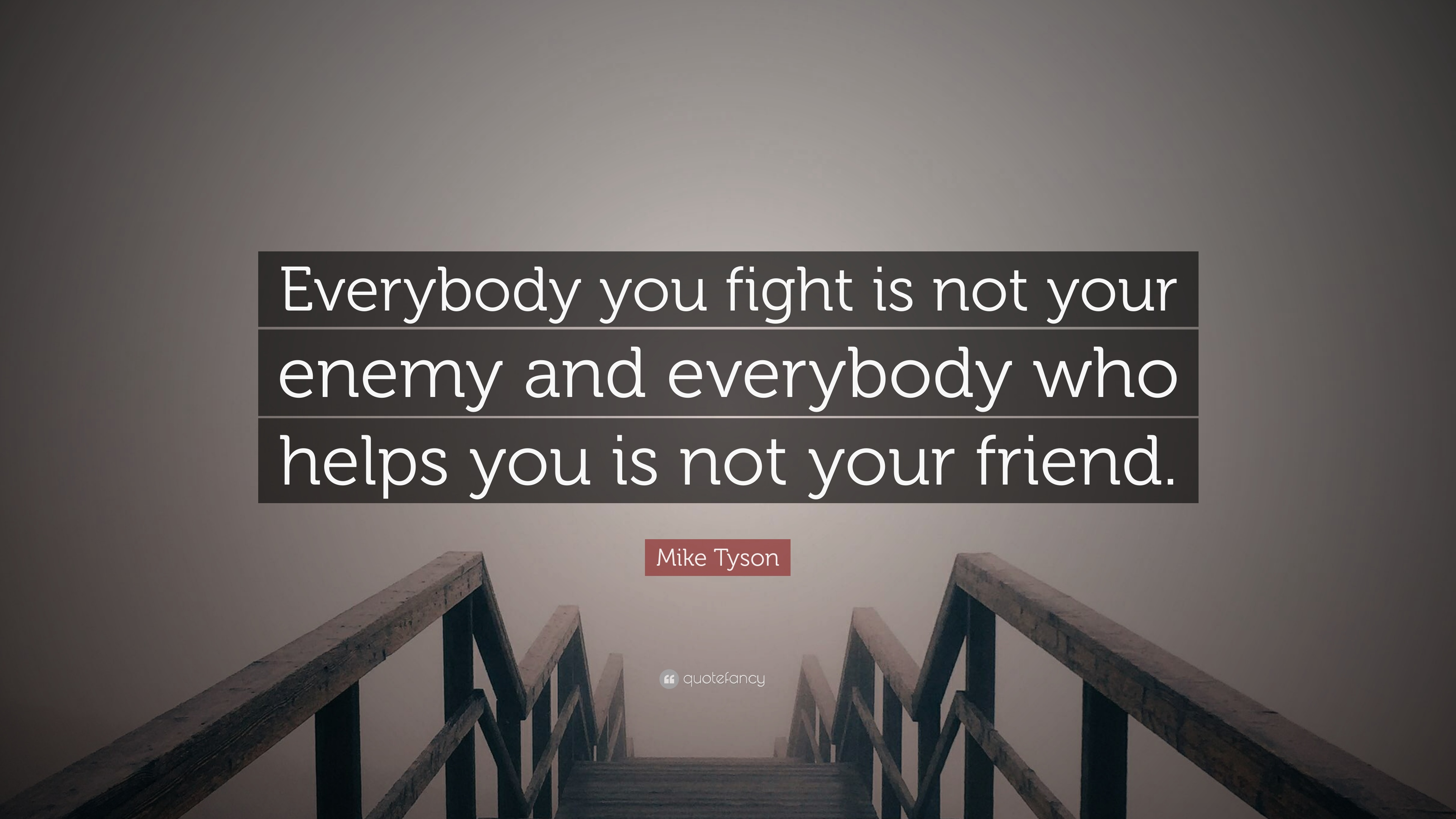 Mike Tyson Quote Everybody You Fight Is Not Your Enemy And
