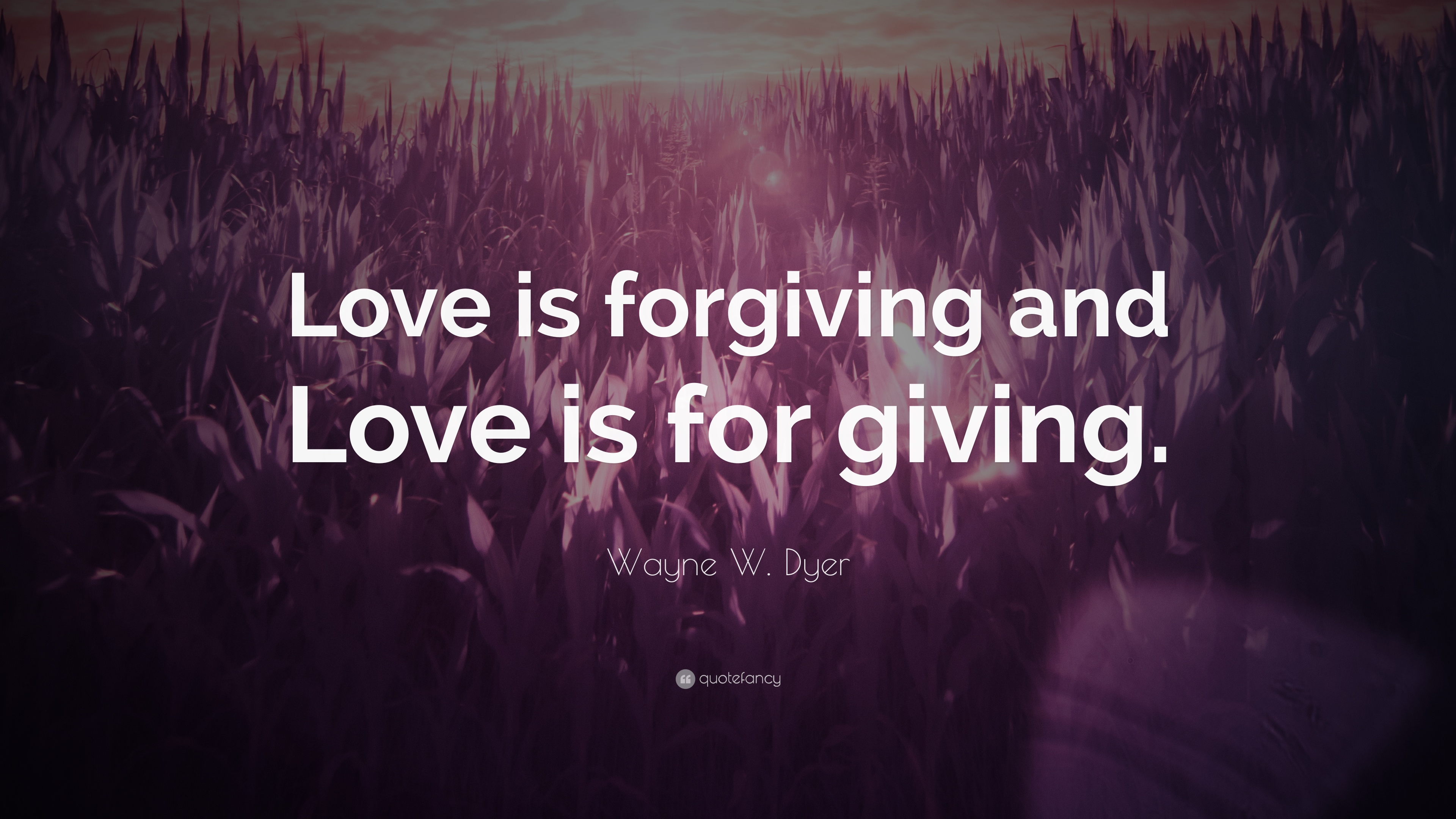 Wayne W Dyer Quote Love Is Forgiving And Love Is For Giving 12