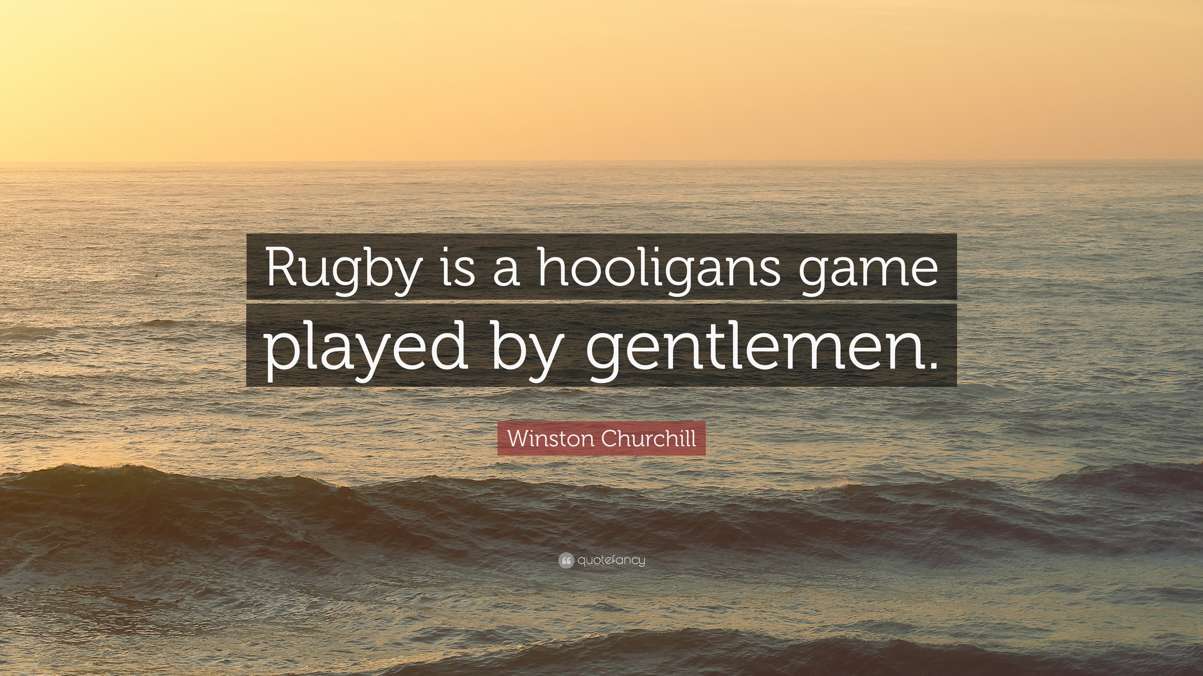Rugby is a hooligans game played by gentlemen - Quotefancy