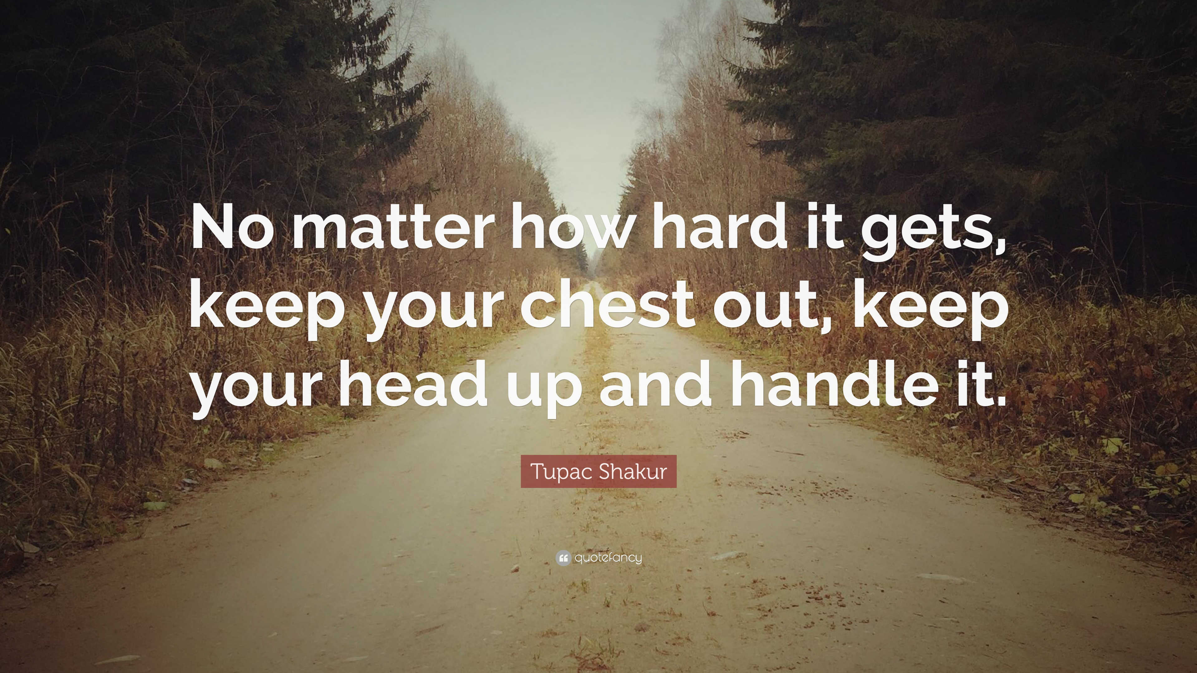 Tupac Shakur Quote No Matter How Hard It Gets Keep Your Chest Out
