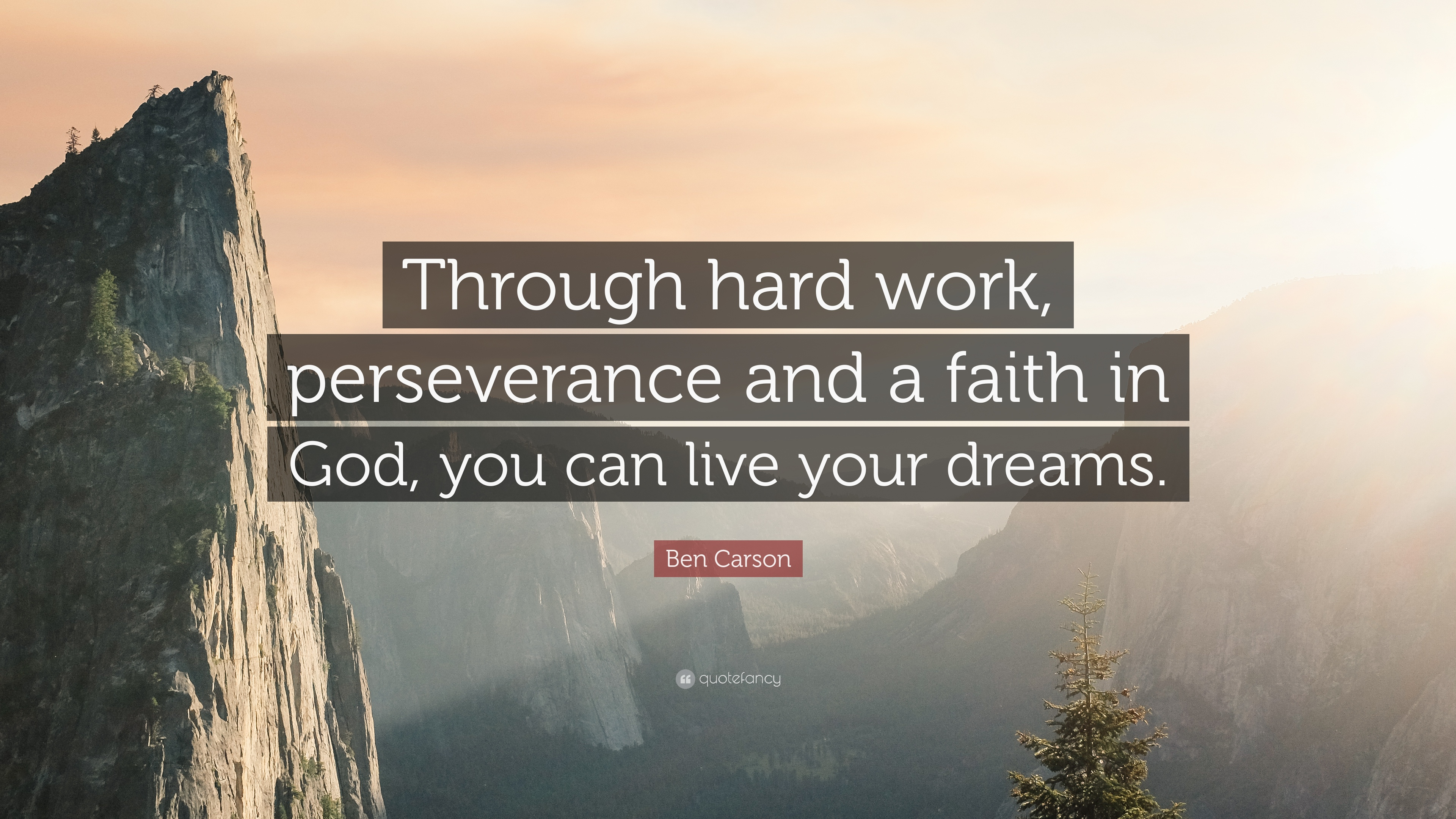 """Faith In God Quotes Ben Carson Quote """"Through Hard Work Perseverance And A Faith In"""
