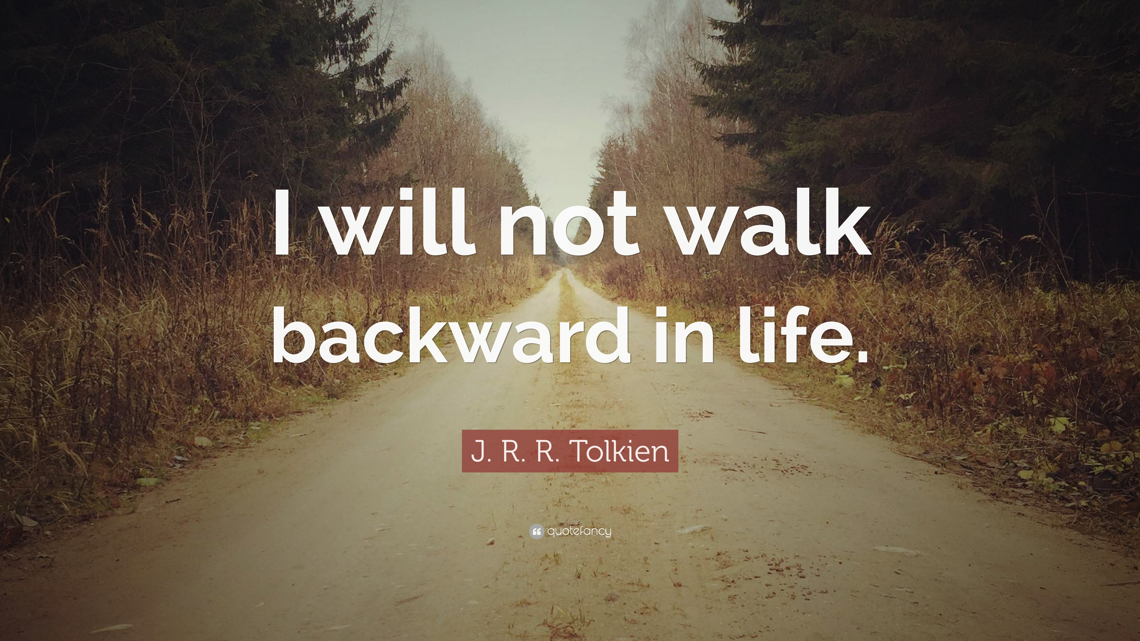 """Jrr Tolkien Quotes About Life Jrrtolkien Quote """"I Will Not Walk Backward In Life."""" 12"""
