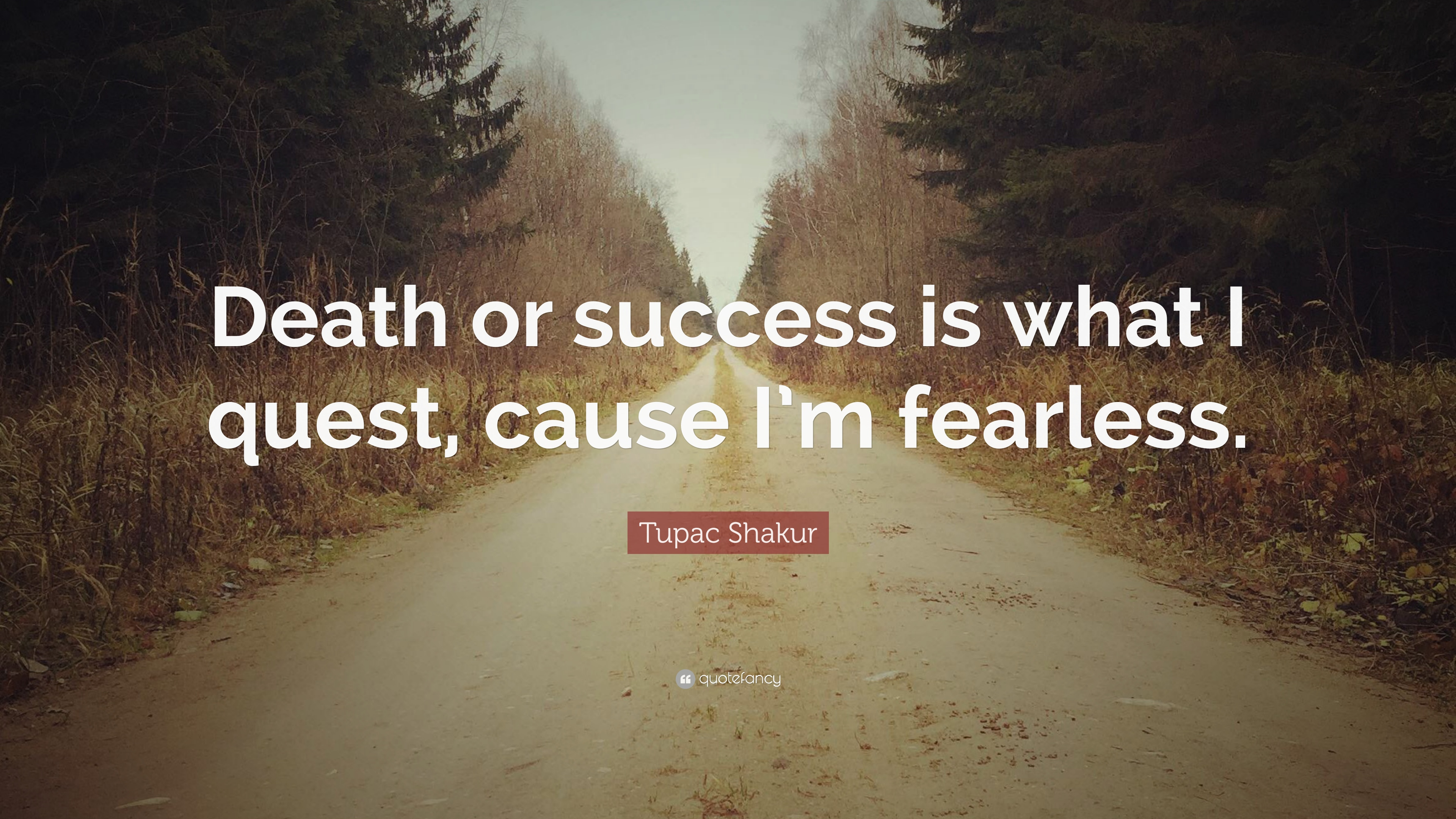 Tupac Shakur Quote Death Or Success Is What I Quest Cause Im