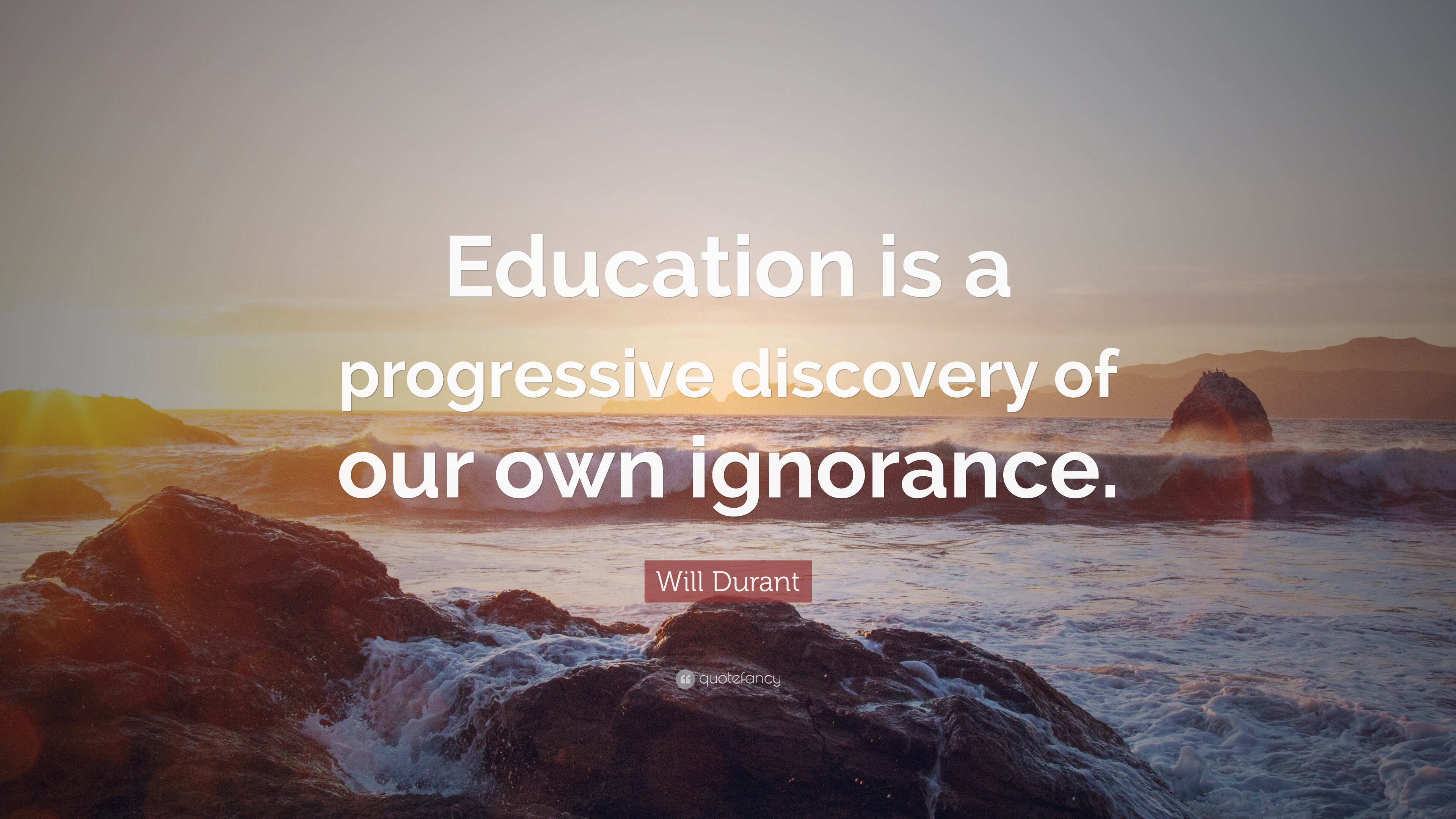 Will Durant Quote Education Is A Progressive Discovery Of Our Own