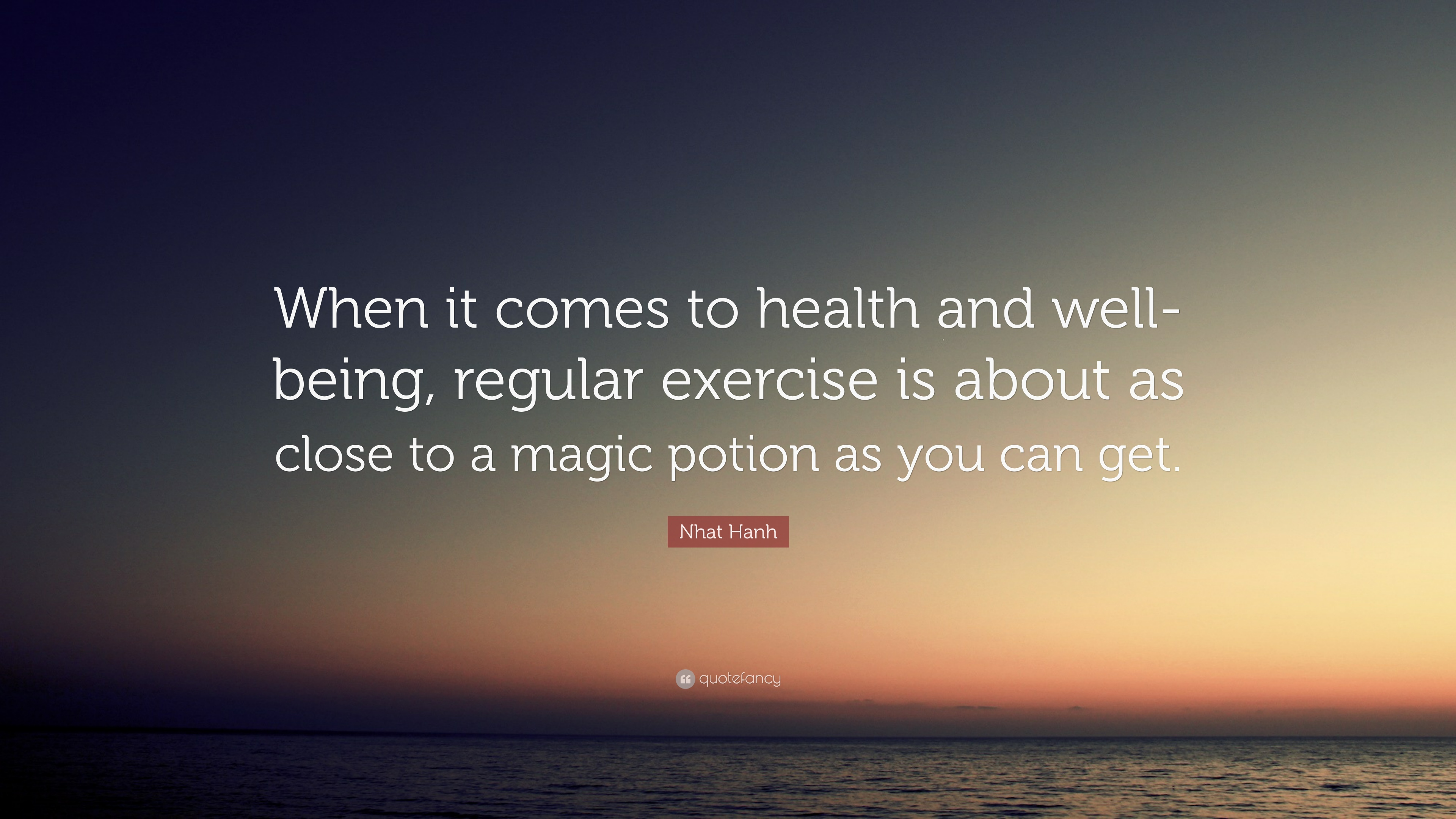Nhat Hanh Quote When It Comes To Health And Well Being Regular