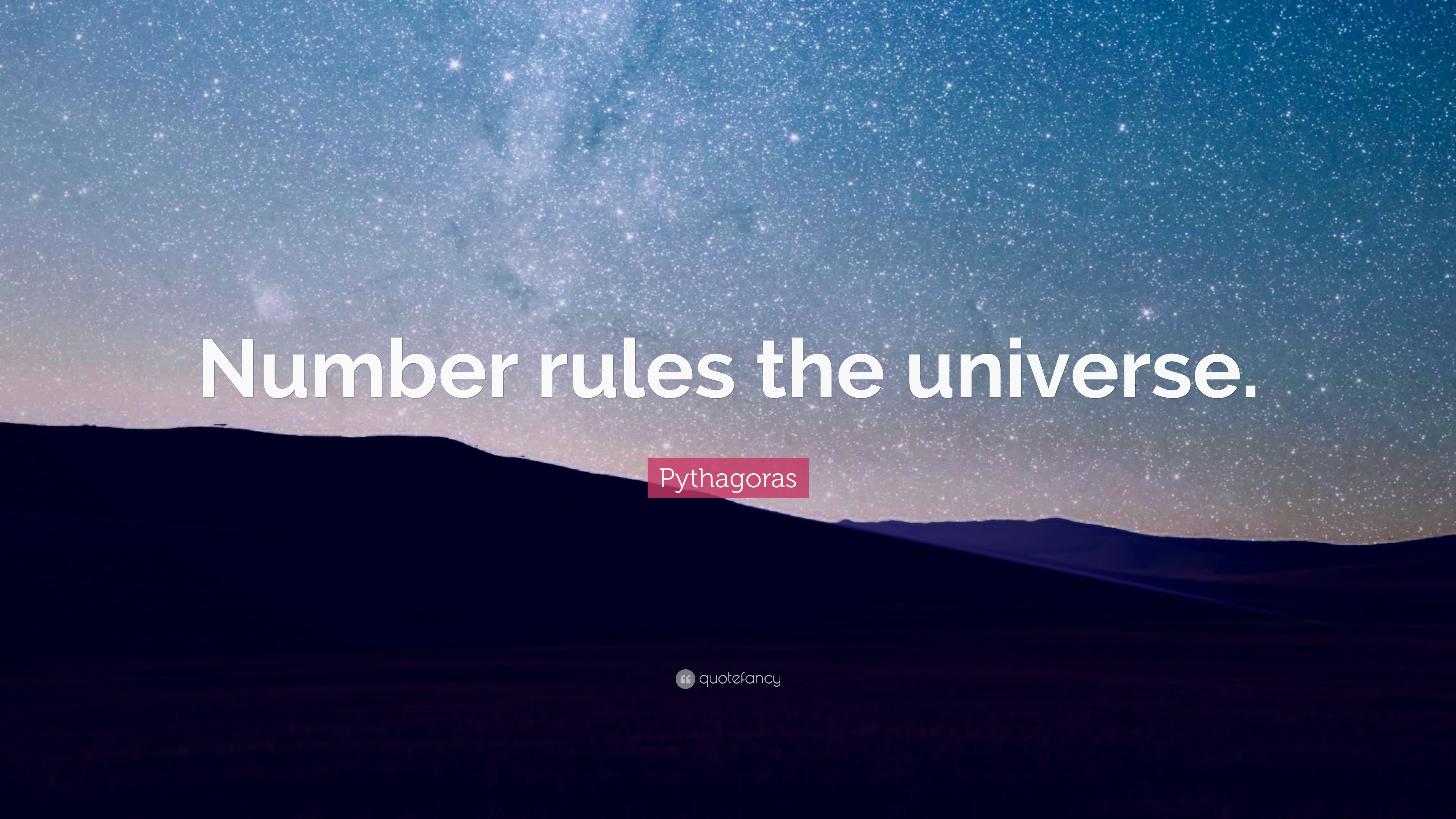 pythagoras a universe made of numbers Pythagoras was born on the island of samos his view of the universe was probably very simple: and also begin the abstraction of mathemetics to the pythagoreans, real numbers were the most important thing, and numbers make up the world.